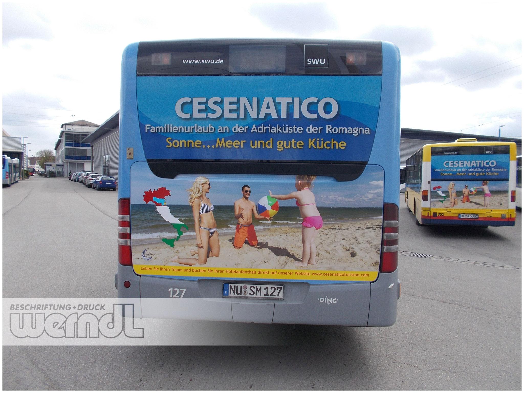 Stadtbus Heckfolierung Cesenatico