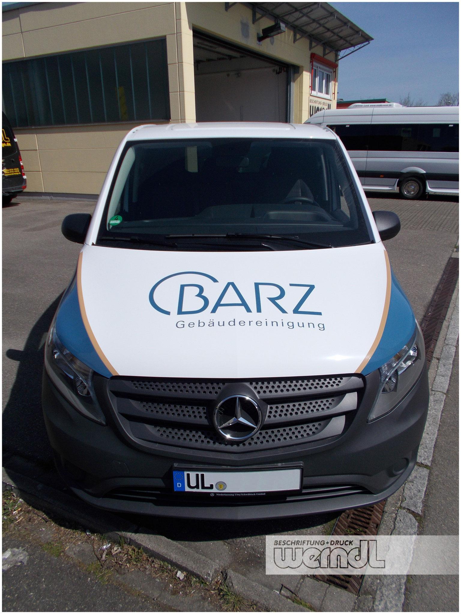 Flottenbeschriftung für die Reinigungsfirma Barz