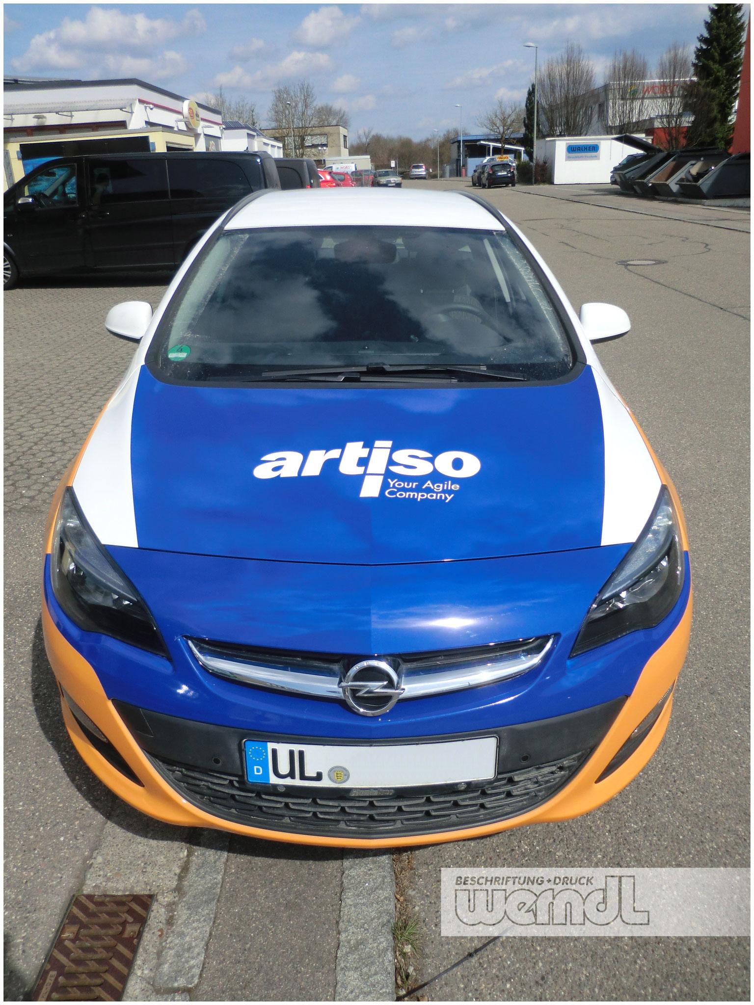 Fahrzeugvollverklebung Opel Astra Caravan