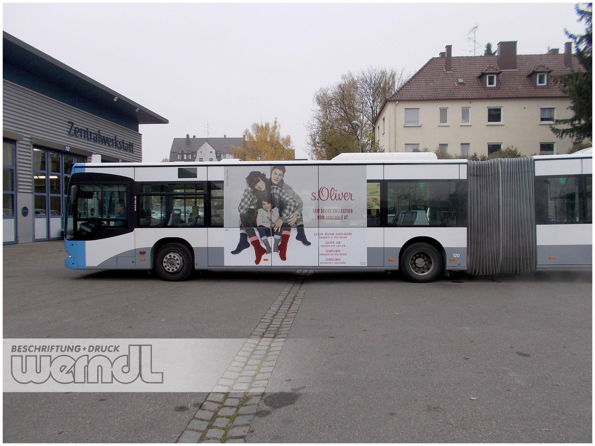 Gelenkbus Trafficboard Teilfolierung