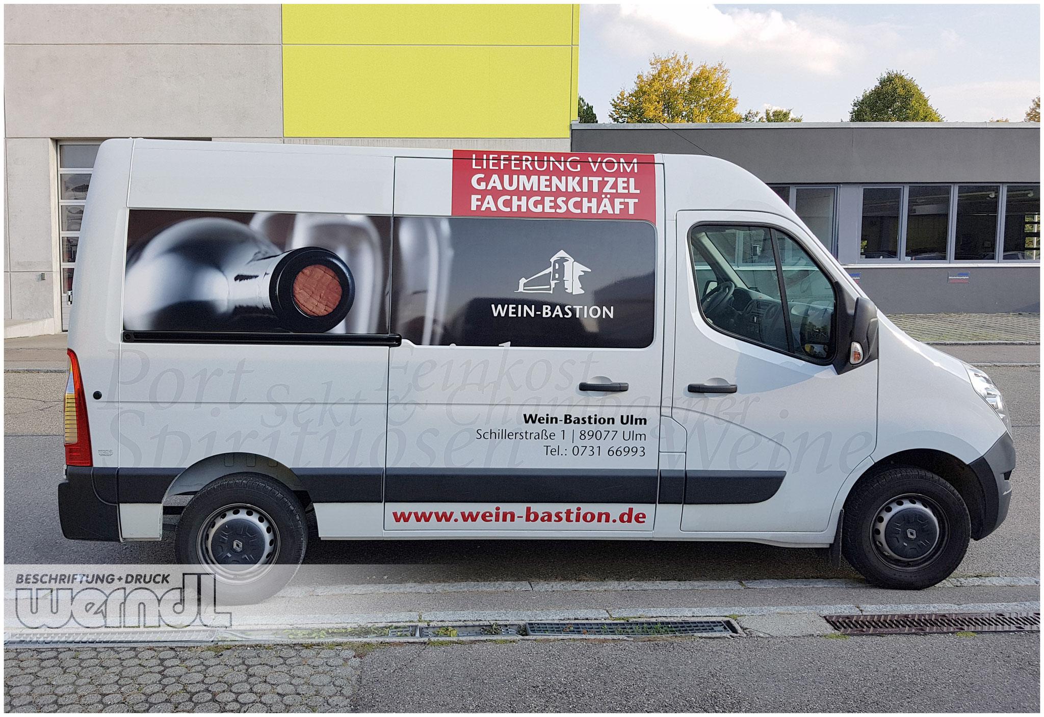 Fahrzeugvollverklebung für die Weinbastion Ulm