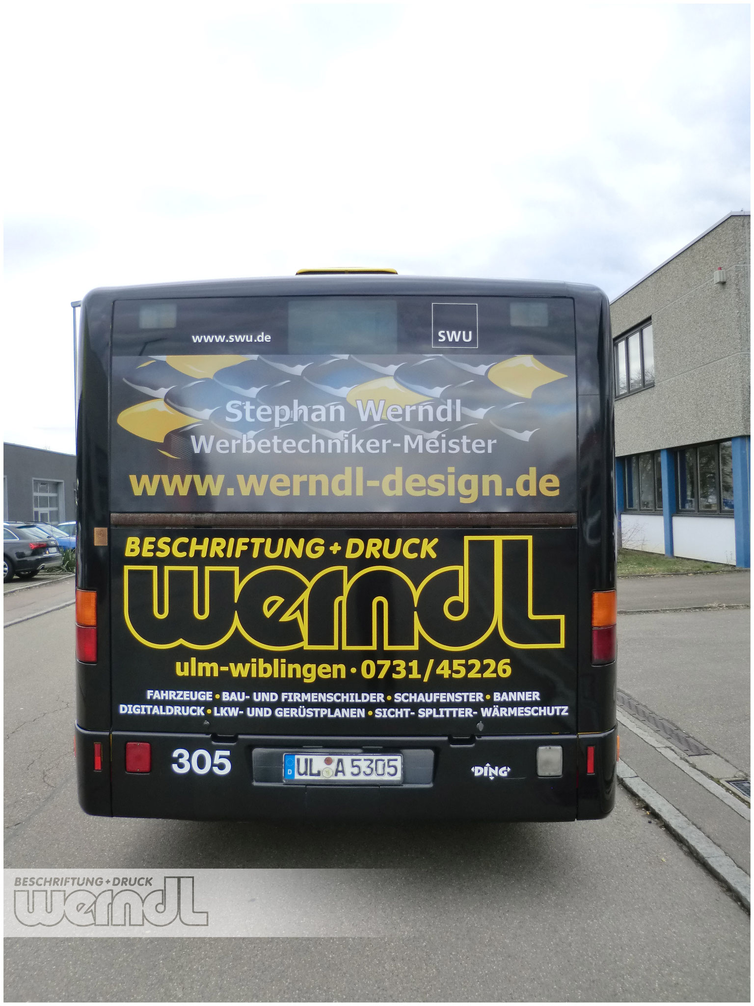 Vollfolierung unseres Werndl Beschriftung und Druck Busses
