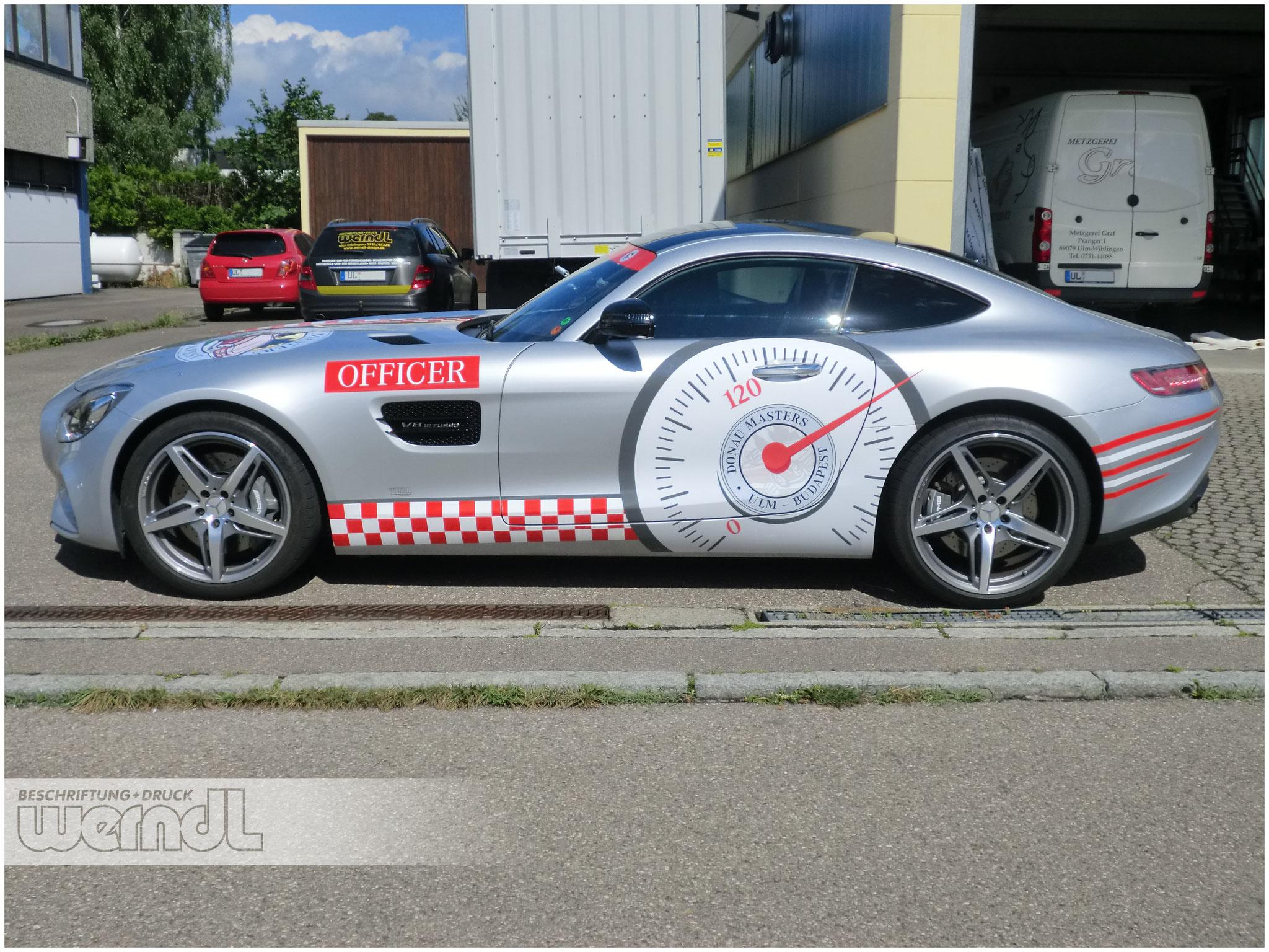 MB AMG GT Pacecar für die Donau Masters Oldtimer Rallye