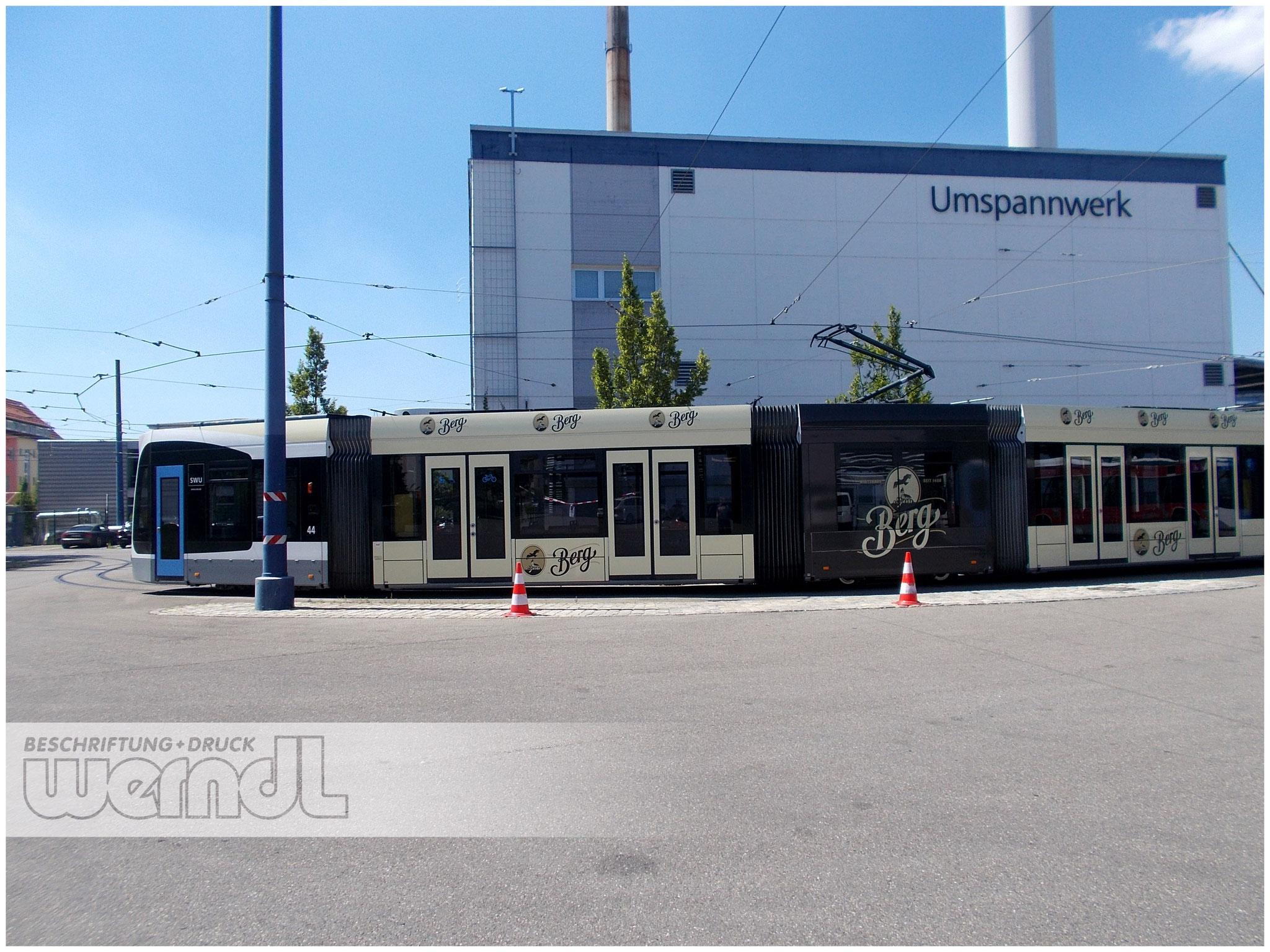 Combino Vollfolierung für die Berg Brauerei, Ehingen