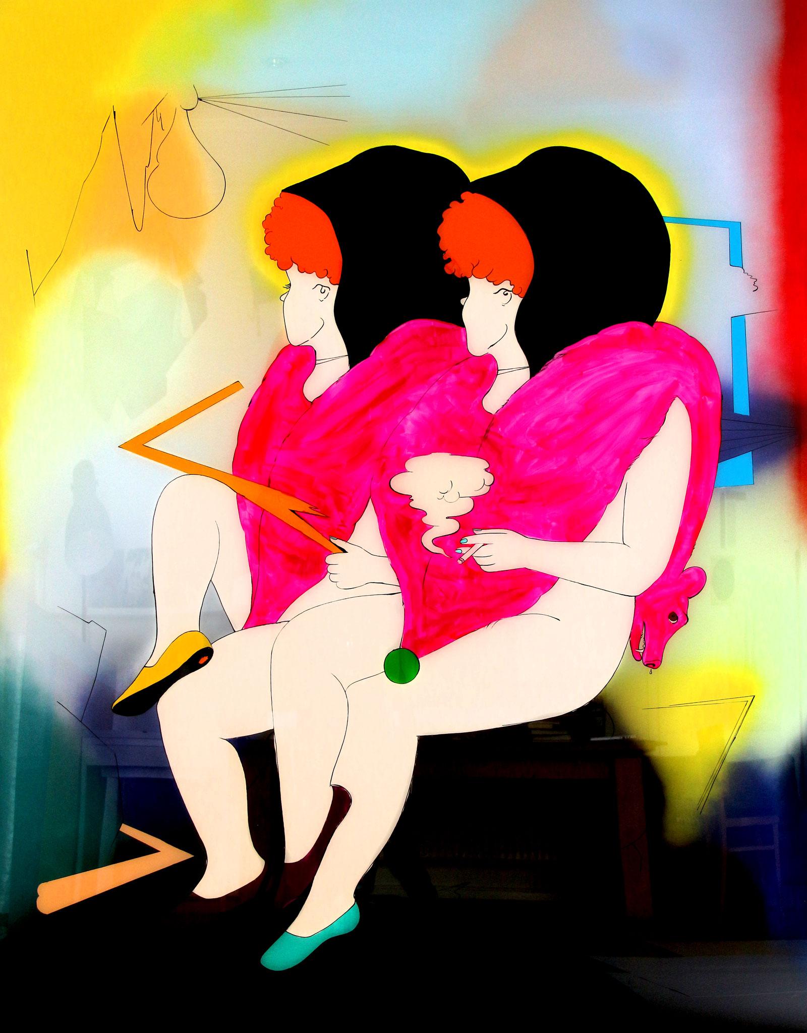 Dialektische Zwillinge, der Ursprung der Welt: Katharina Gschwendtner Malerei Zeichnung