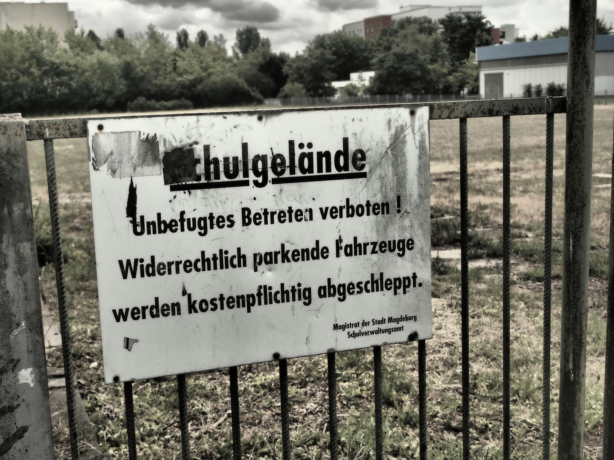 Impressionen Gelände ehemalige POS Georg-Singer-Oberschule, Magdeburg