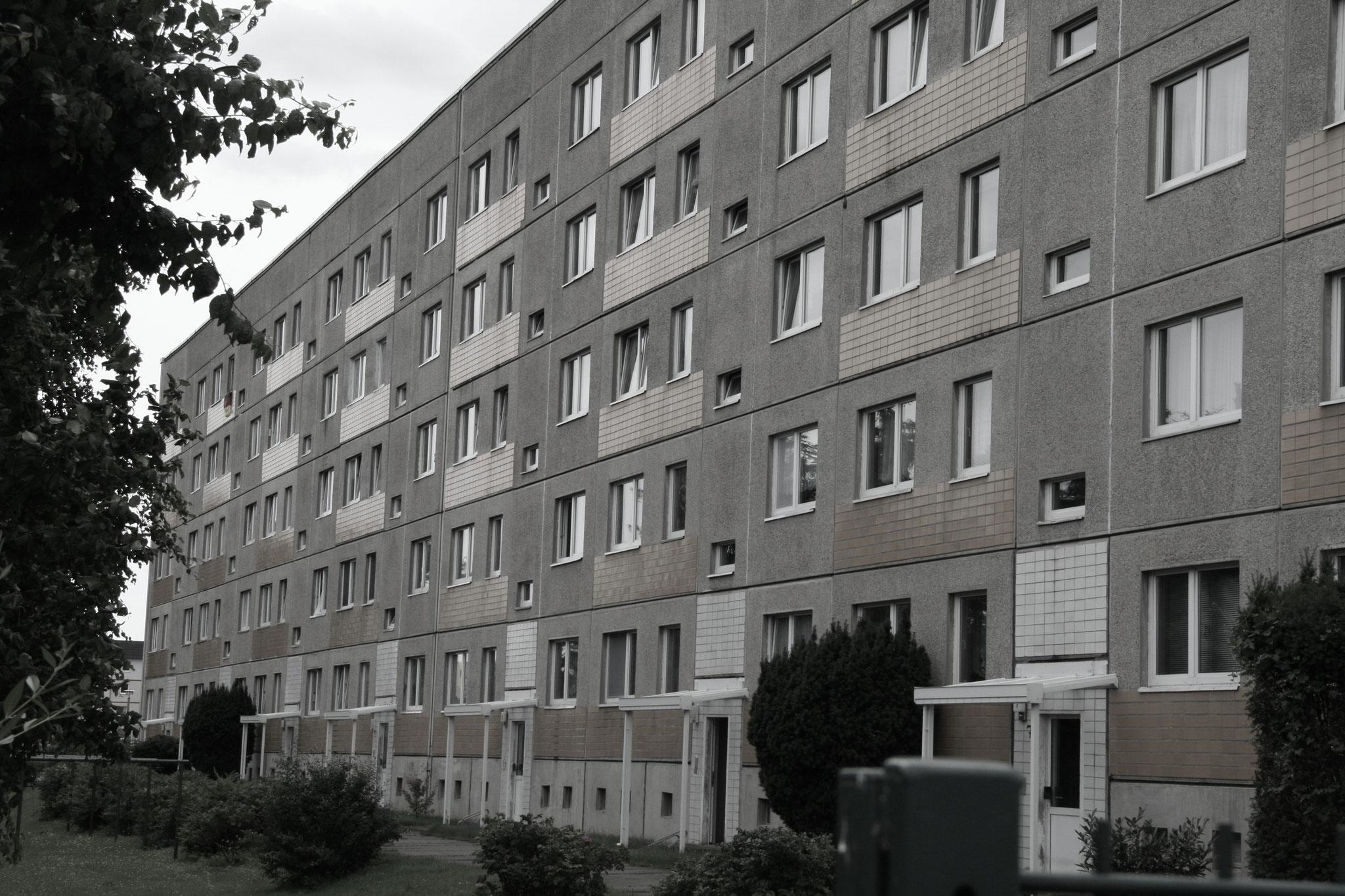 Kindheit im Neustädter Feld (Rückansicht Ulner Straße)