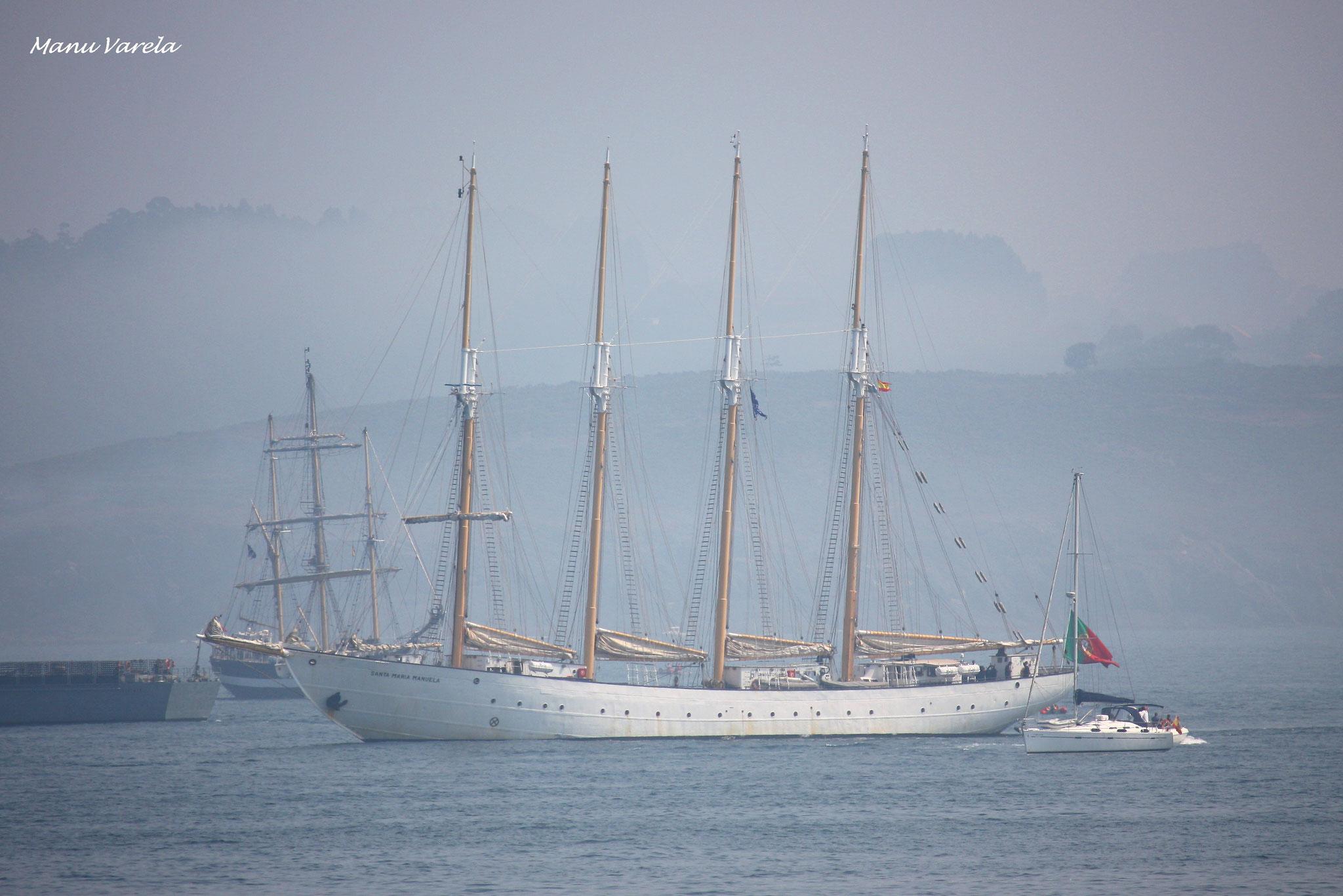 Desfile naval de salida - Tall Ships Races La Coruña - Agosto 2016