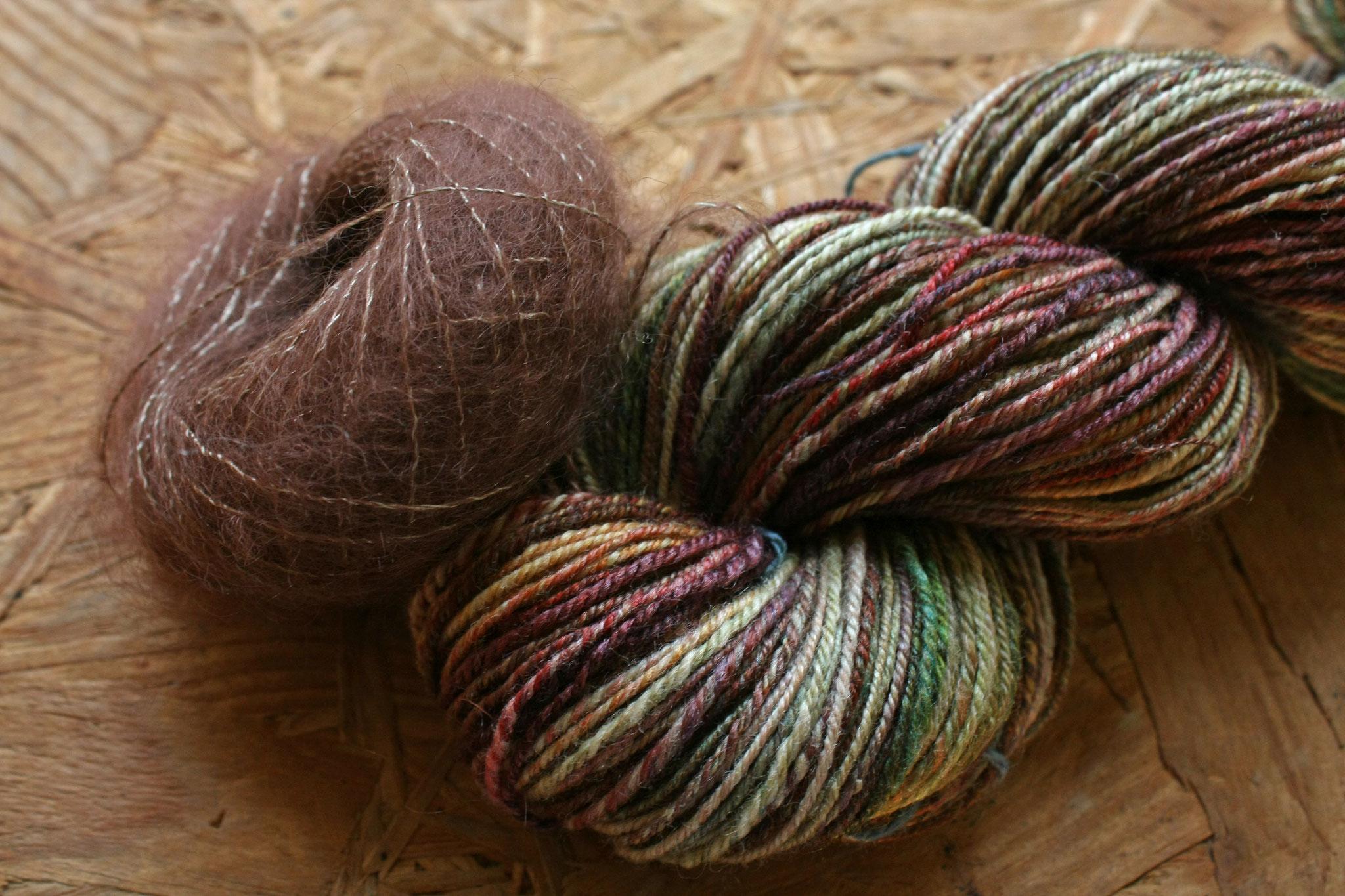 Filé main plus laine Cocon couleur Marron glacé