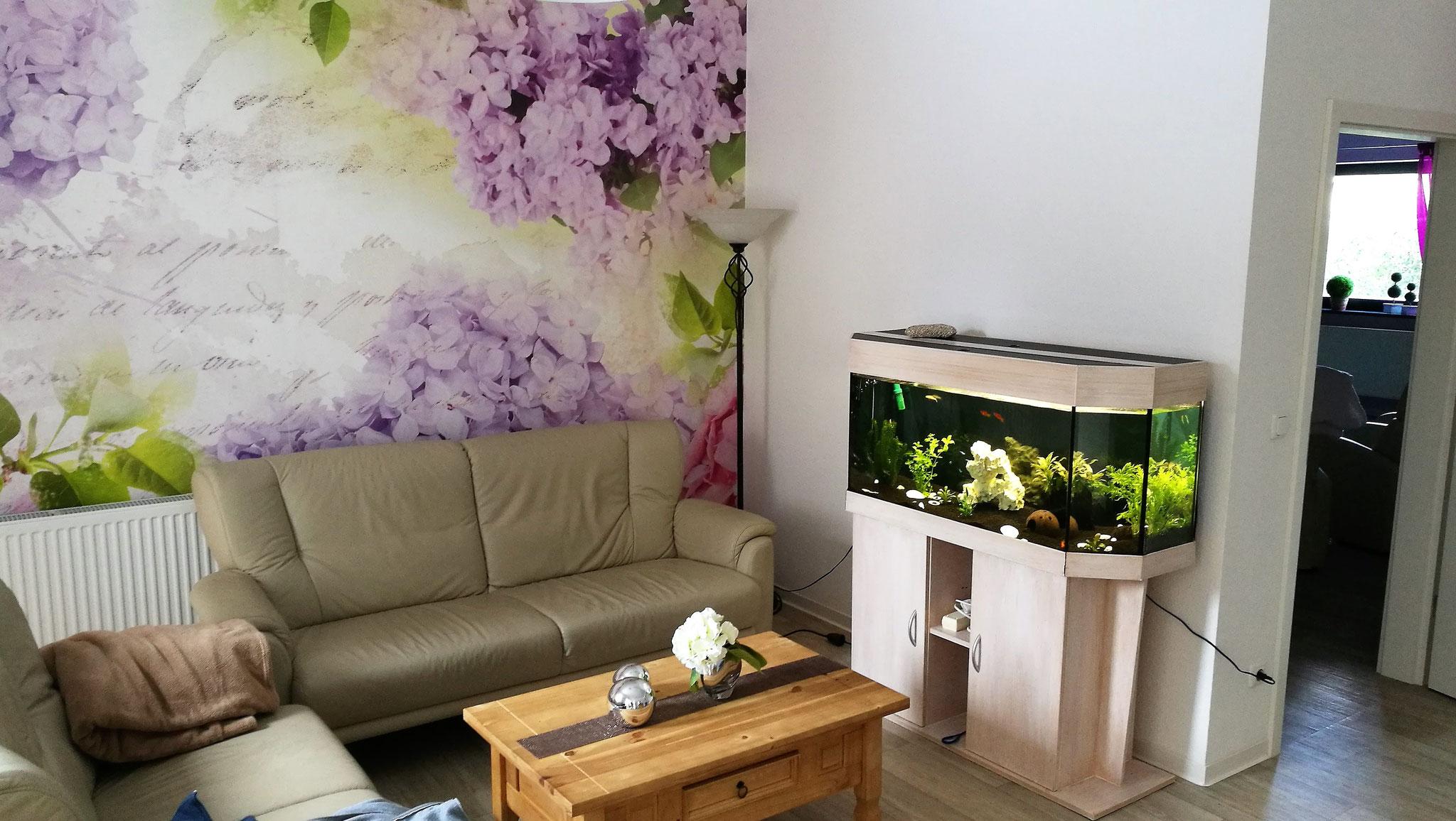 Ruhiger Sitzbereich mit Aquarium