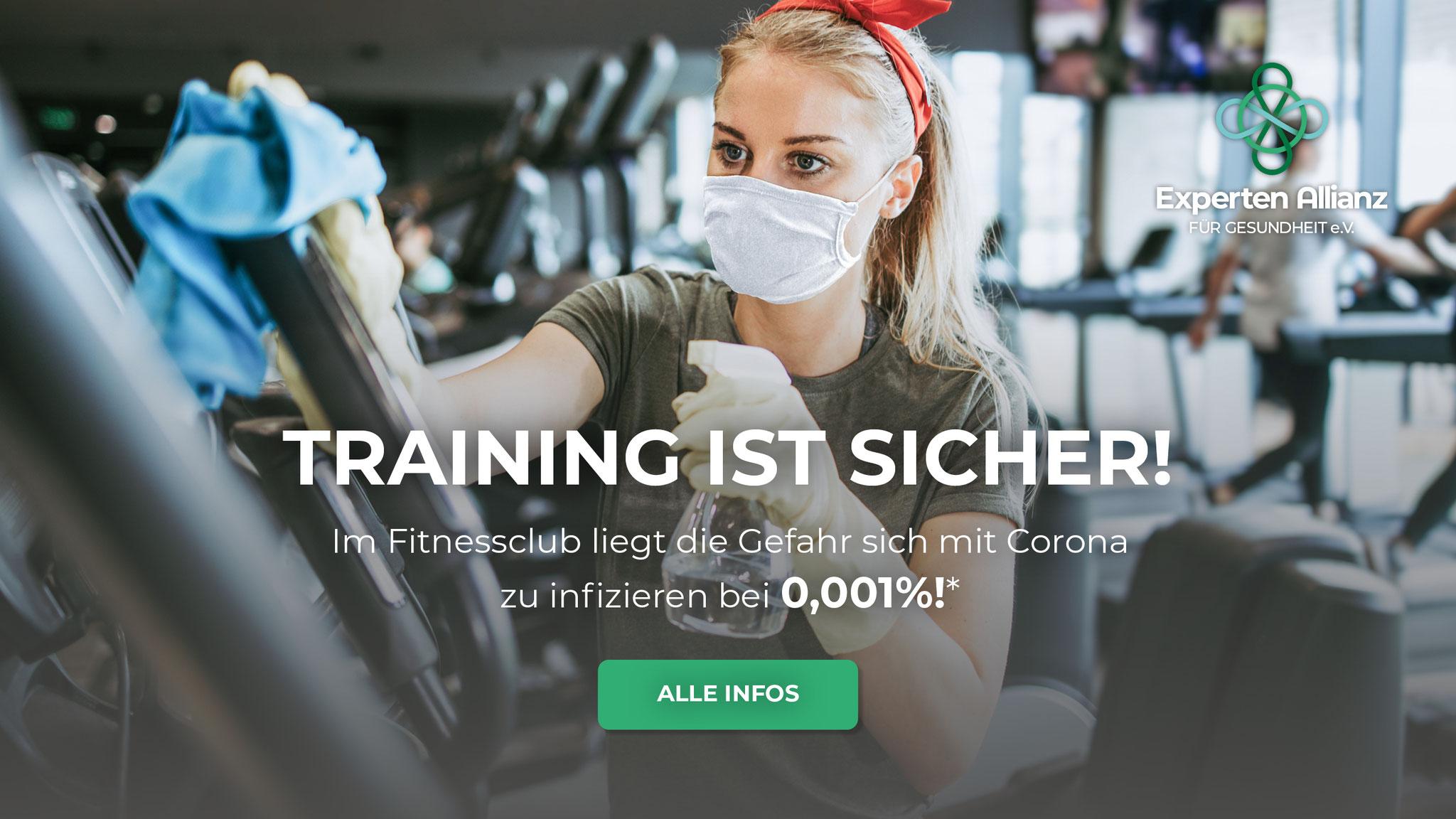 Training ist Sicher!
