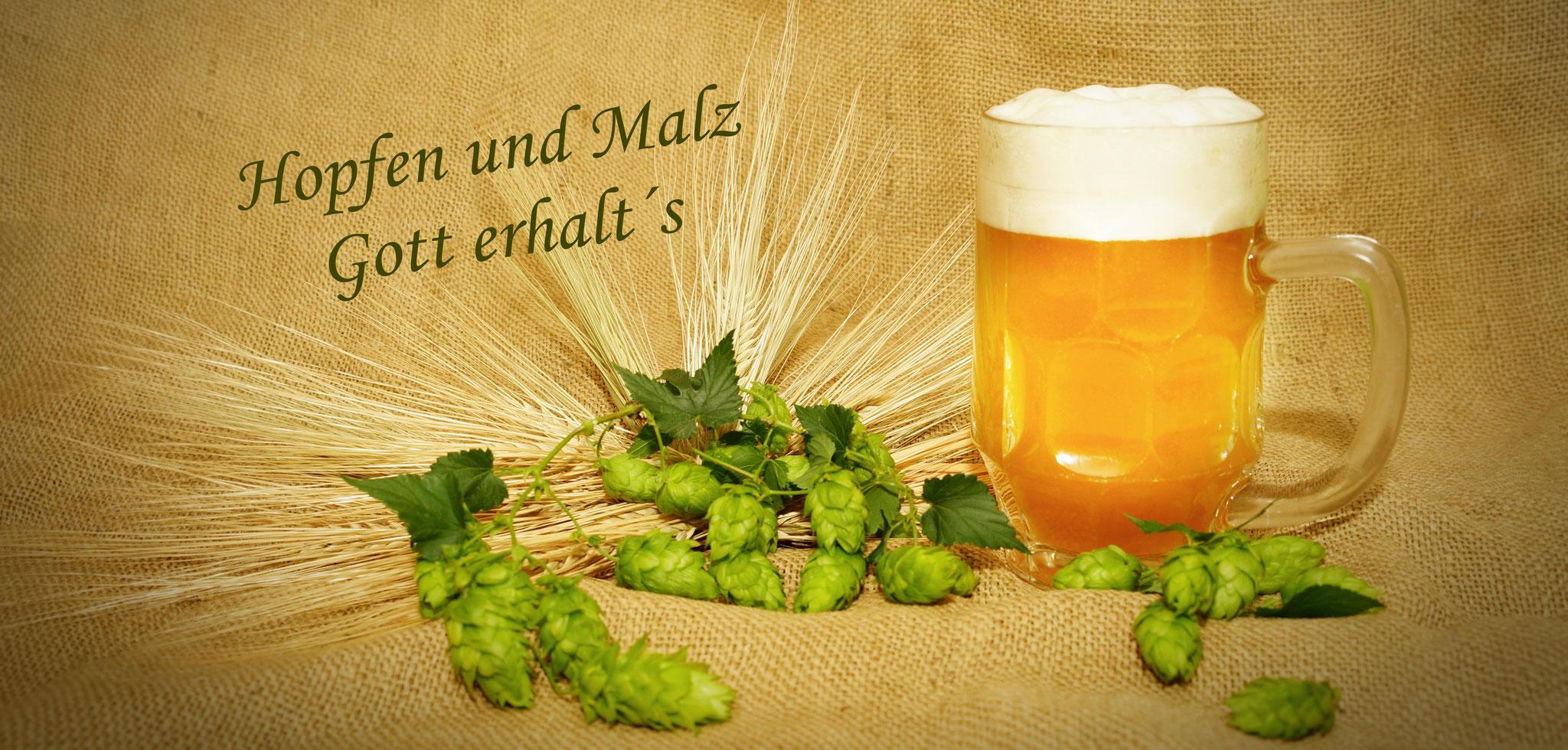 """""""Hopfen & Malz  Bierkrug"""""""