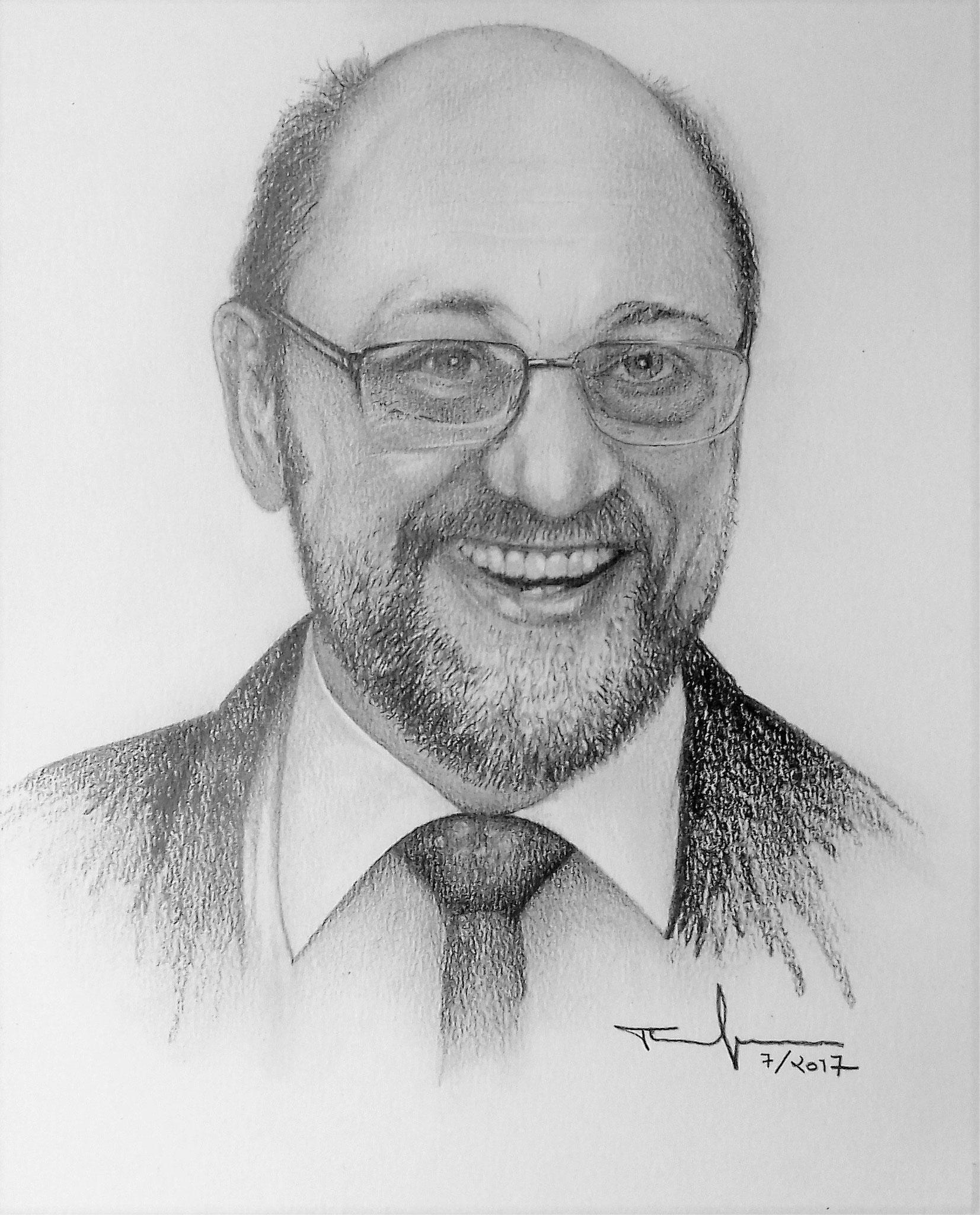 Martin Schulz -  Bleistift und Kohle