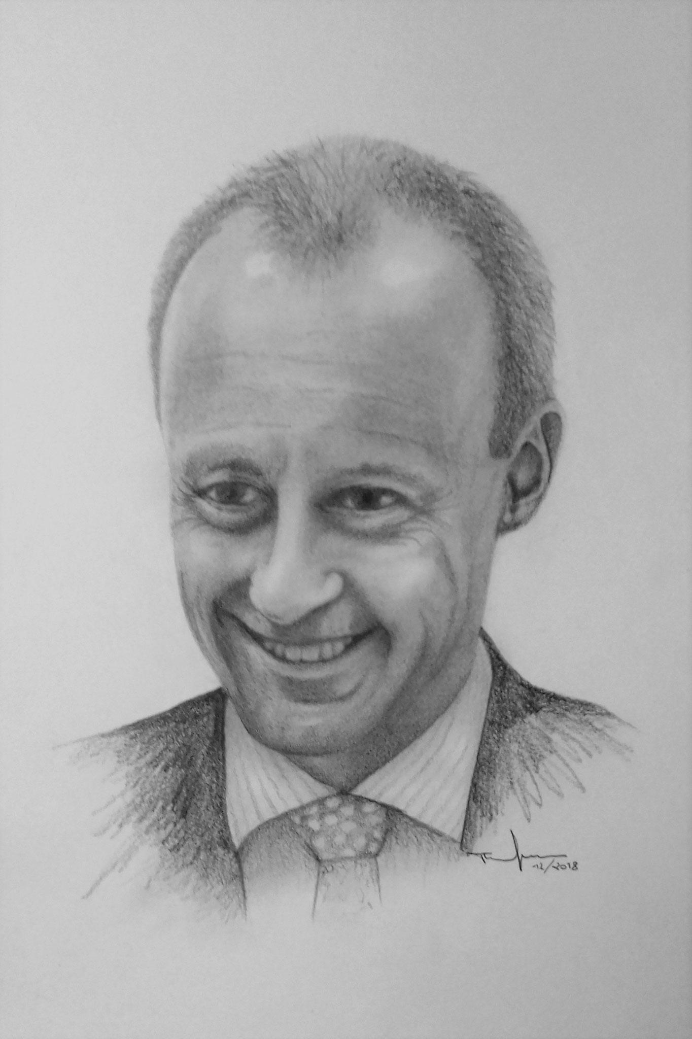 Friedrich Merz - Bleistift und Kohle