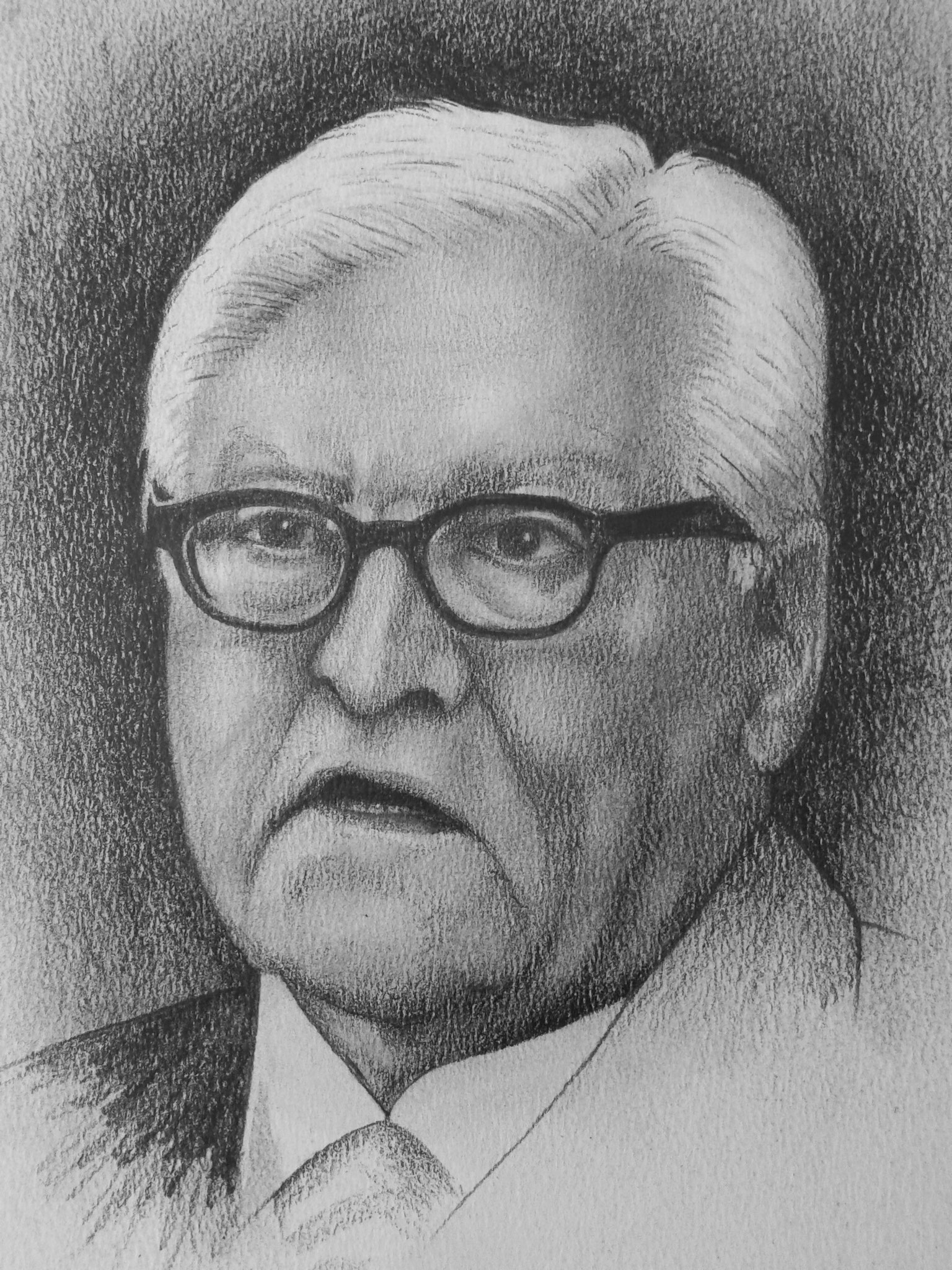 Frank-Walter Steinmeier -  Bleistift und Kohle