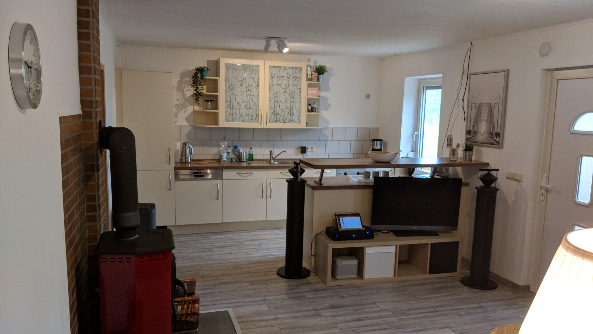 Ferienhaus Baalsee - Wohnbereich Küche