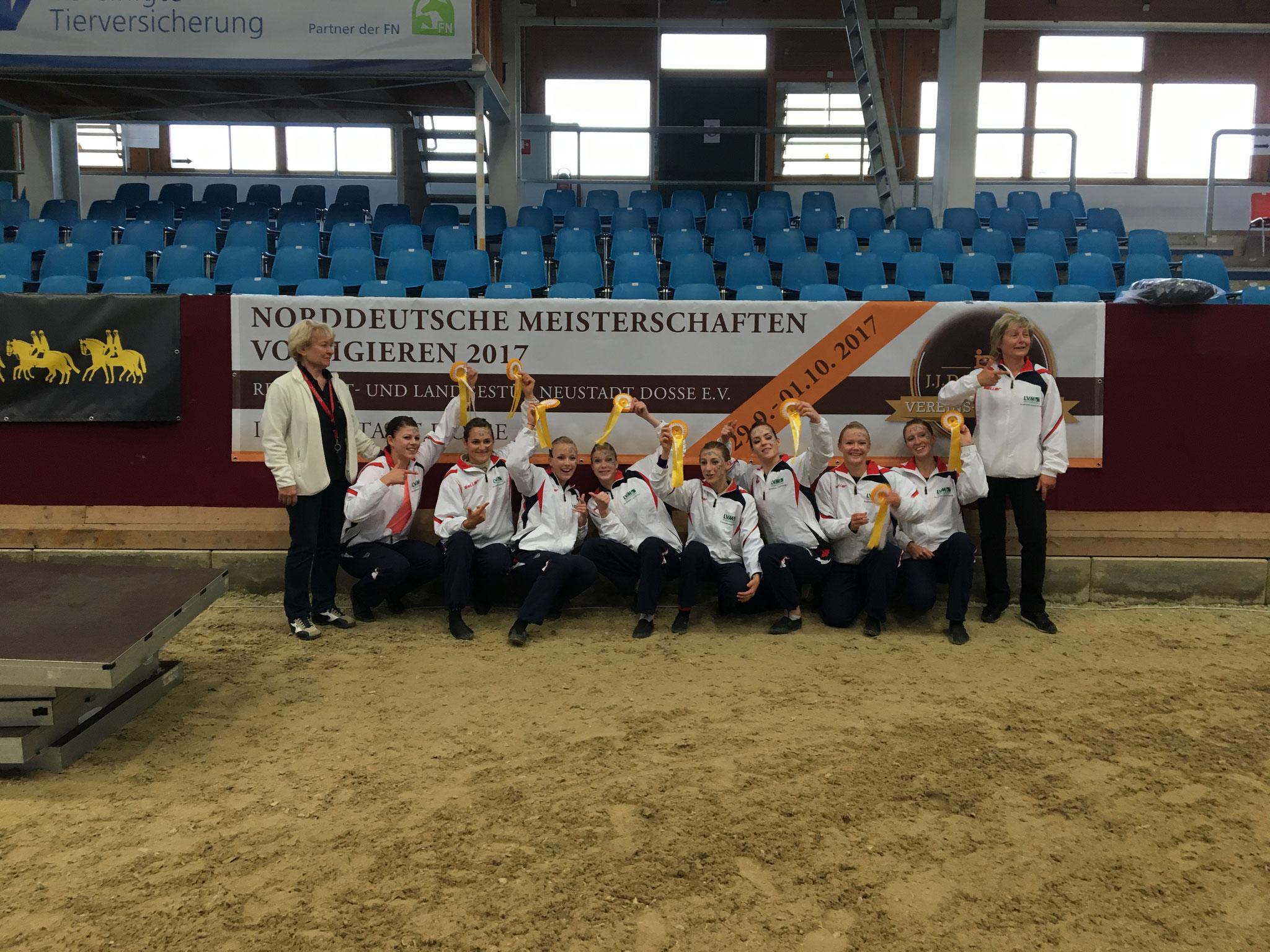 1. Platz der M-Gruppen auf der Norddeutschen Meisterschaft 2017