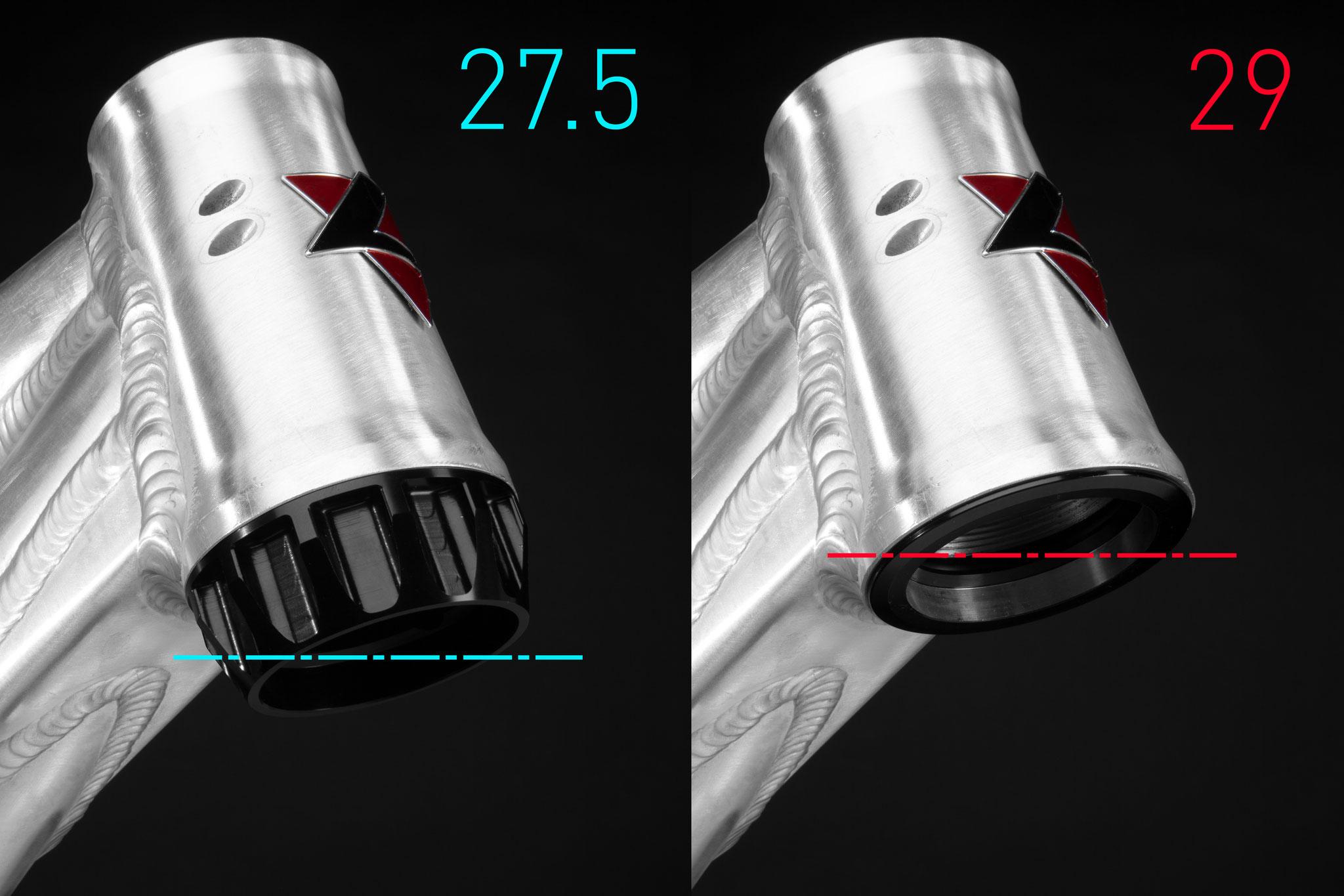 """LevelTune ermöglicht gleiche Geometrie, egal ob 27,5"""" oder 29"""" Laufräder"""