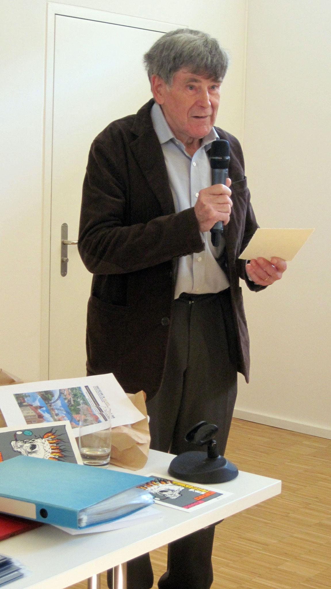Der Präsident eröffnete die GV zum 50-Jahr-Jubiläum des SELC in Solothurn