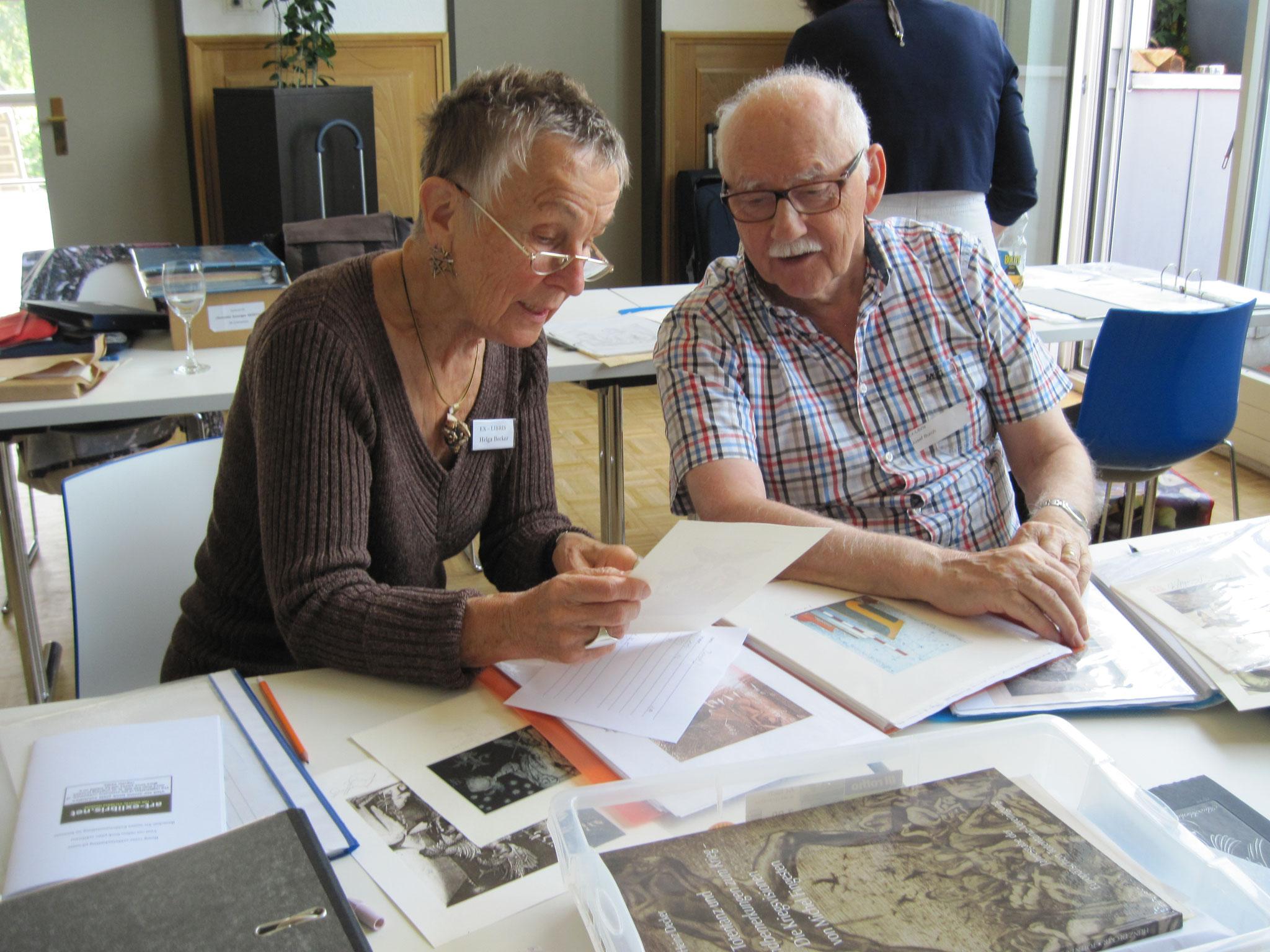 Helga Becker-Bickerich und Josef Burch