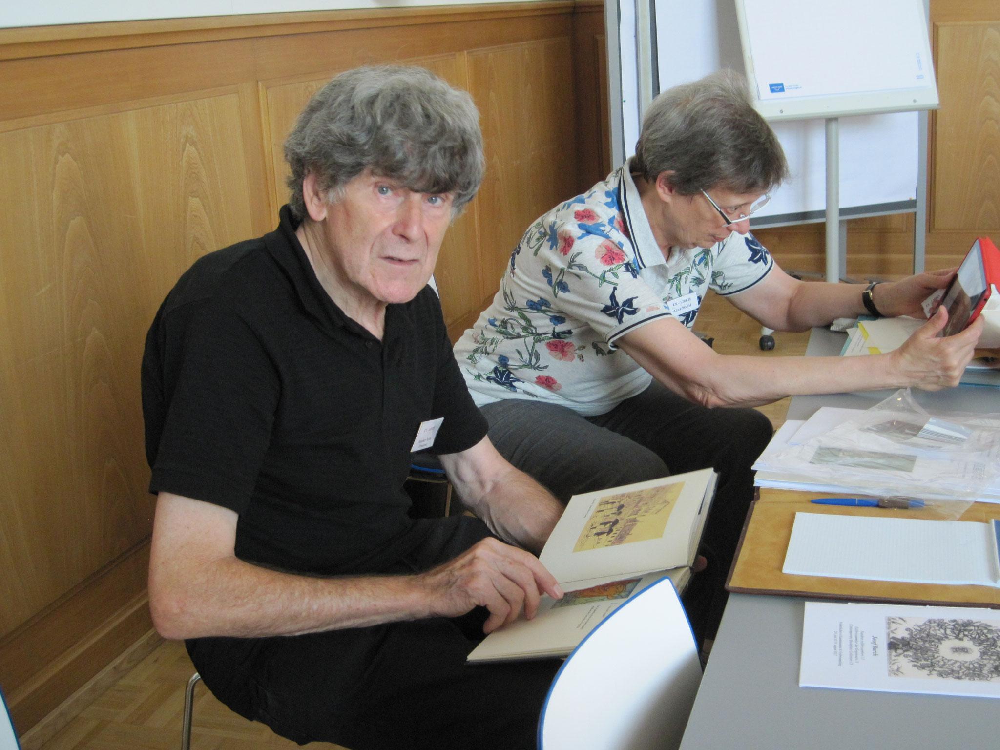 Der Präsident Stefan Hausherr und Anna Stiefel