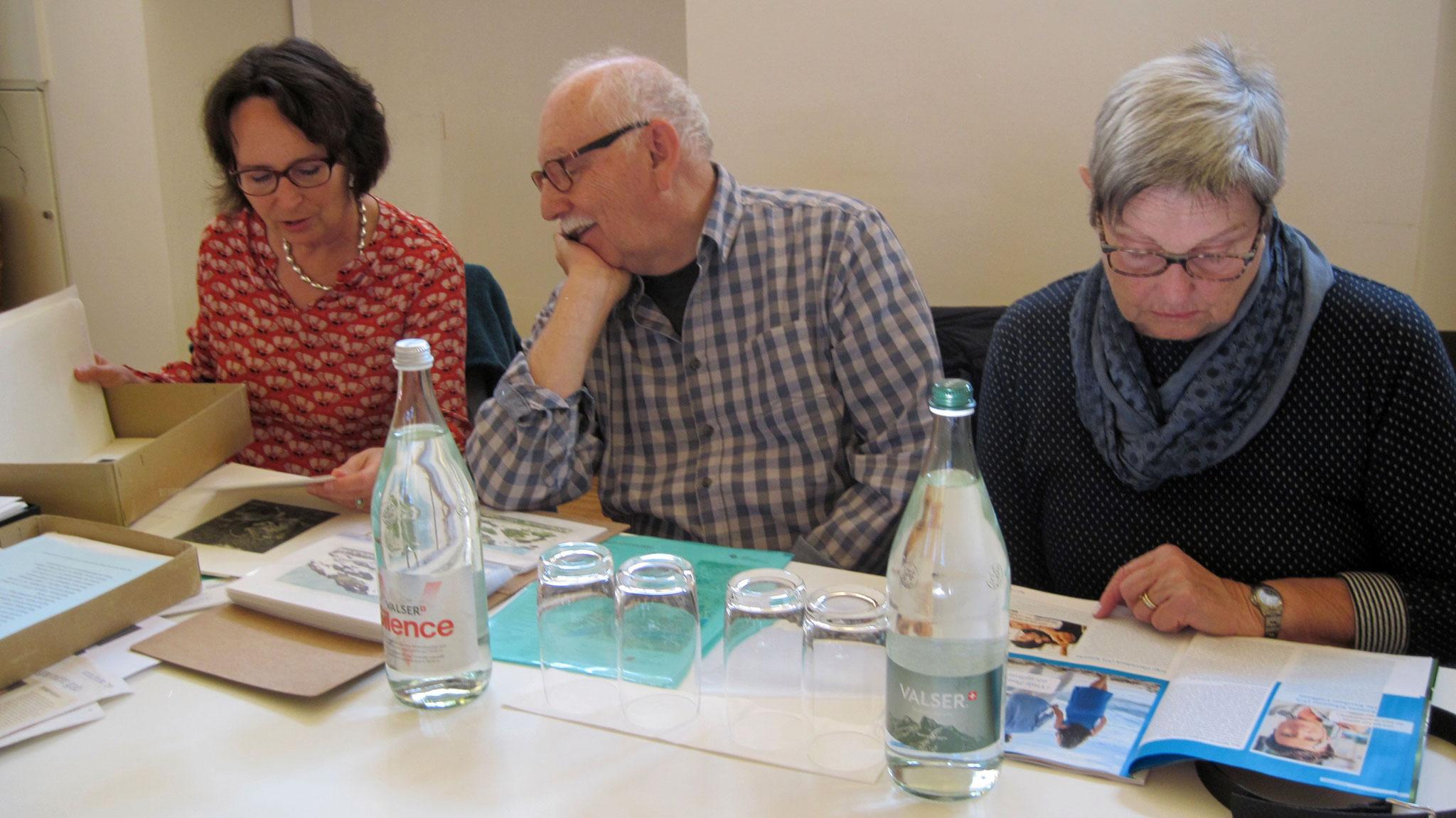 Michaela Muhmenthaler mit Josef und Käthi Burch