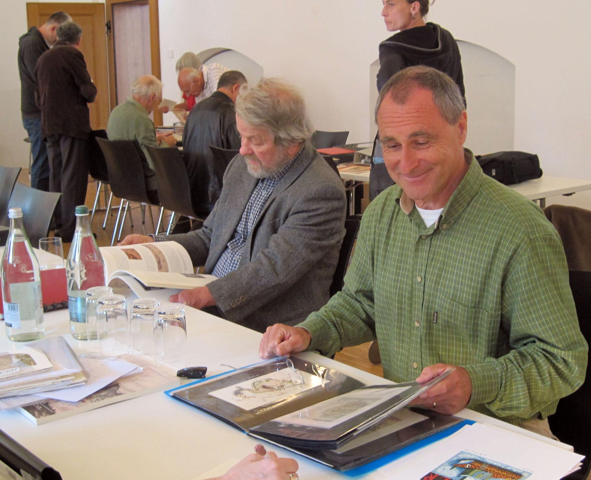 Der Künstler Thomas Wüthrich und der Sammler Bruno Lamprecht