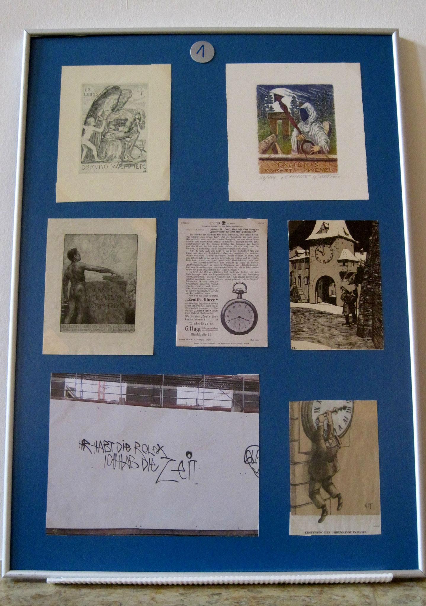 Detail der Uhren-Ausstellung