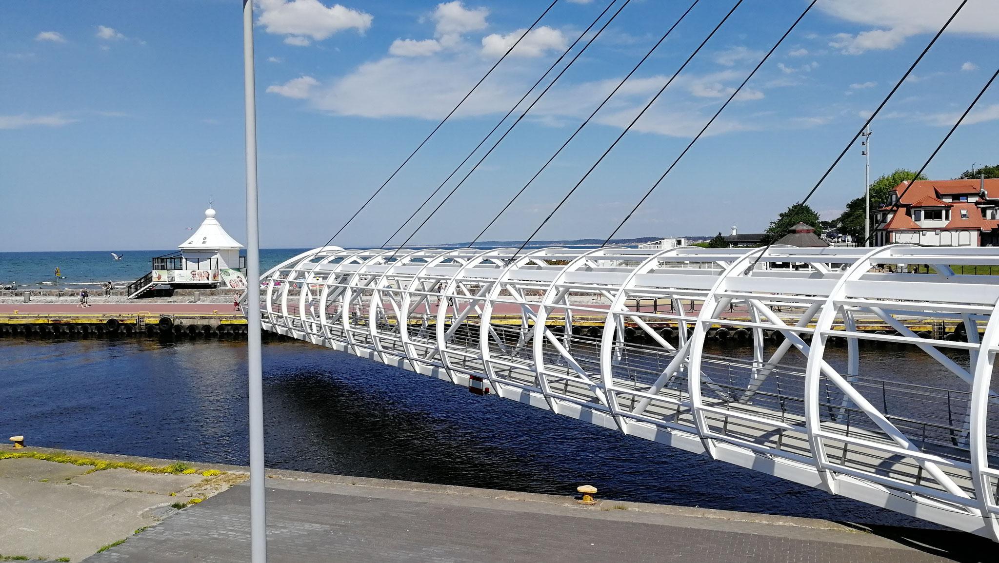 Drehbrücke  über die Słupia