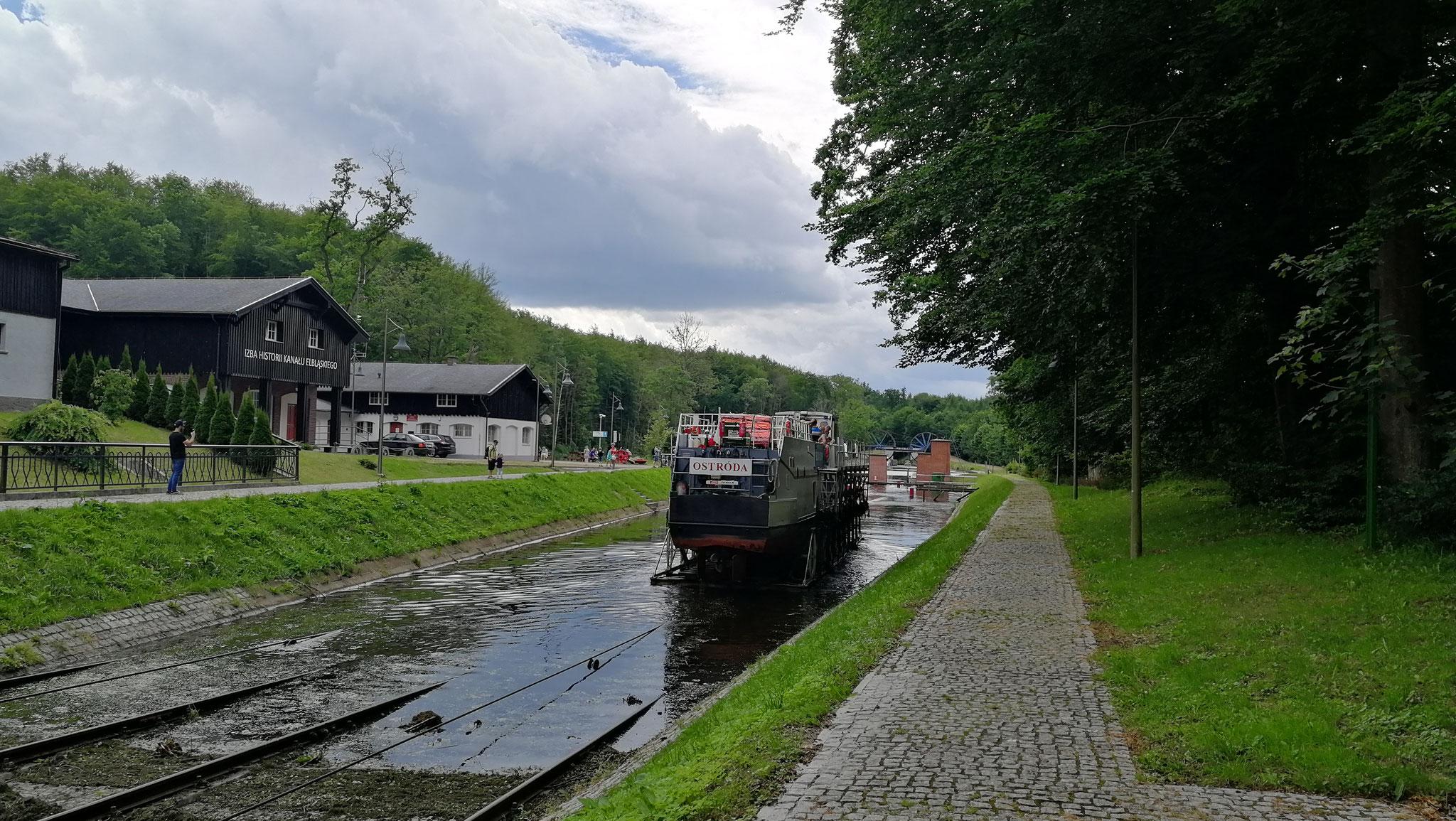 der Kanal verbindet Ostroda mit Elblag
