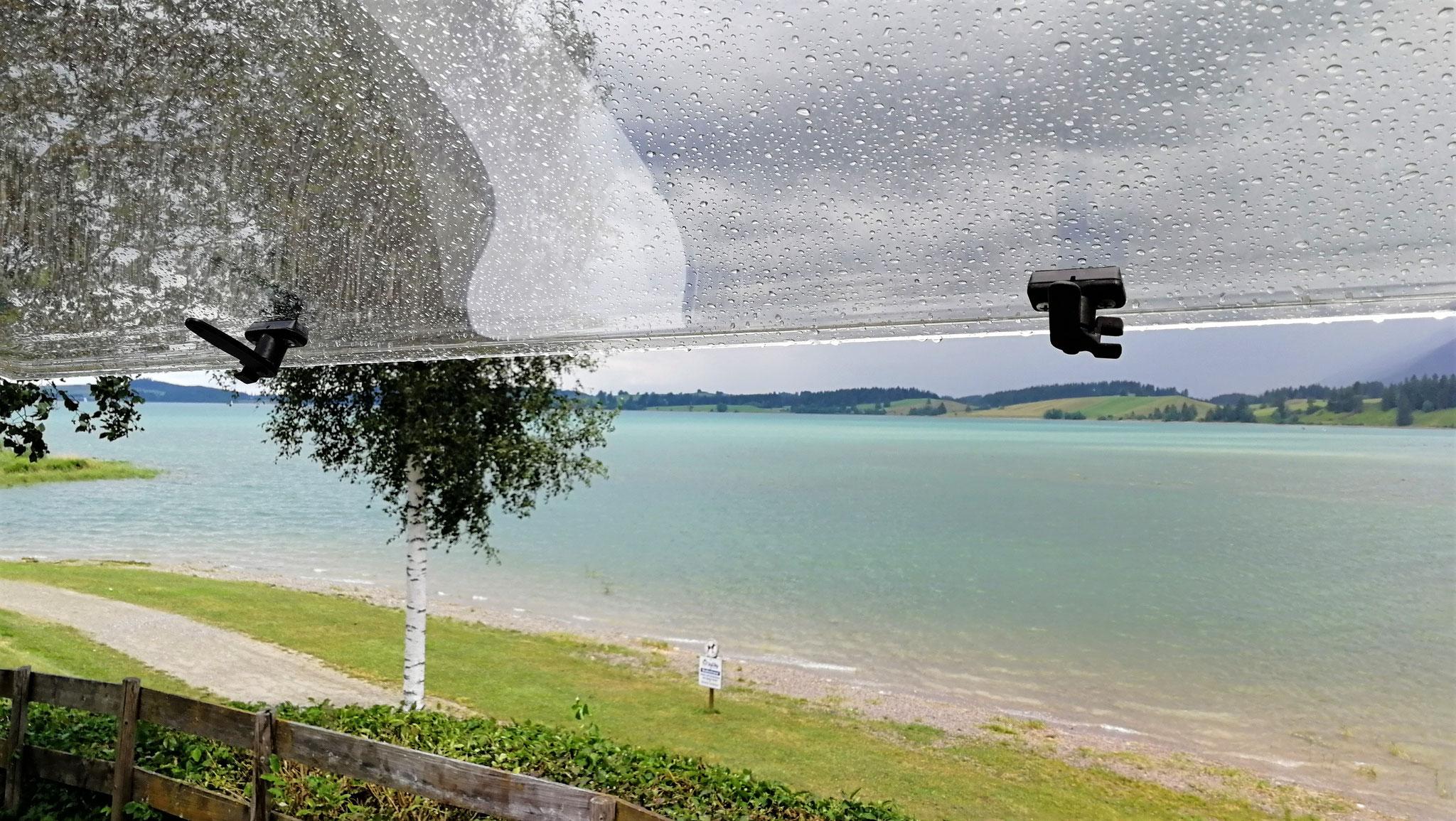 Regen am Abreisetag