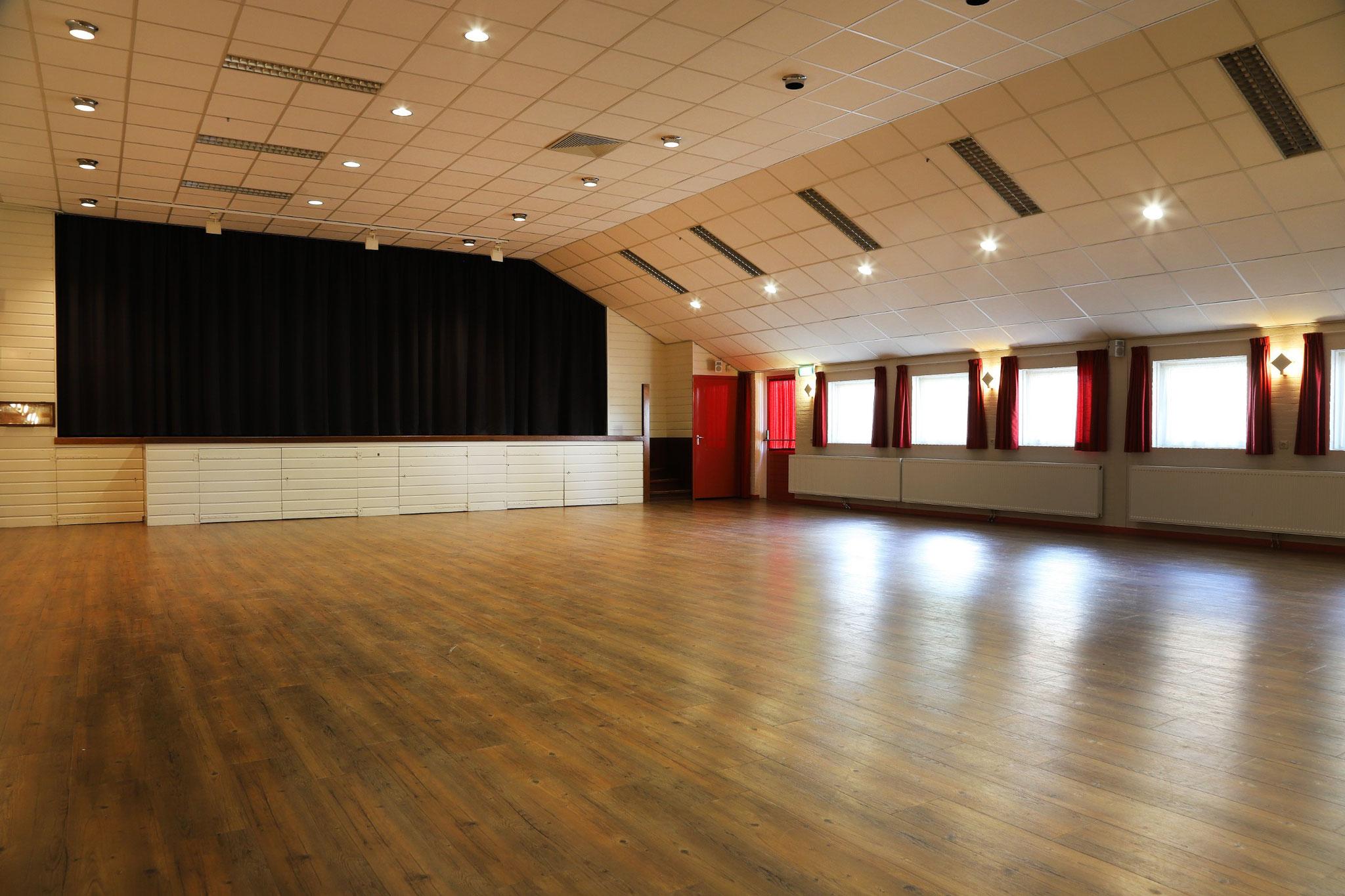 Grote zaal geschikt voor ca. 240 personen