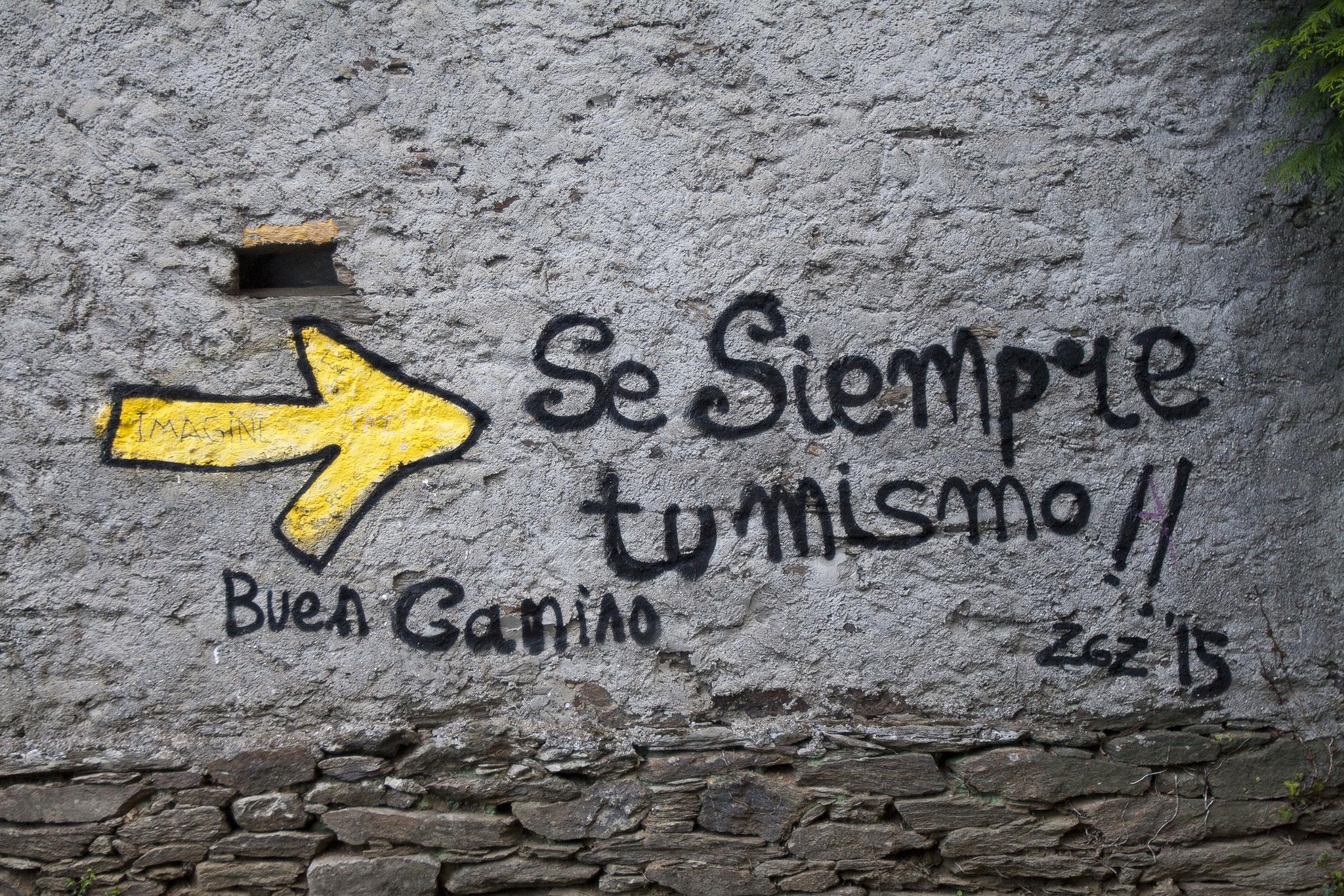 """""""Wees altijd jezelf"""", stond er op een muur geschreven"""