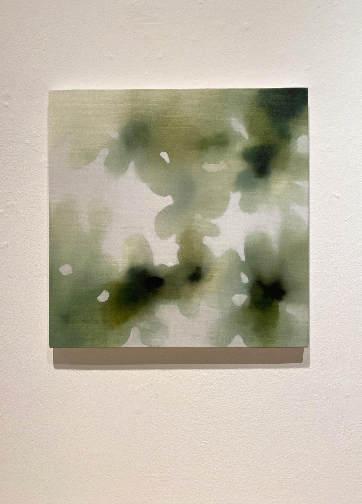 ひびにふれる410×410,キャンバス、油彩,2020
