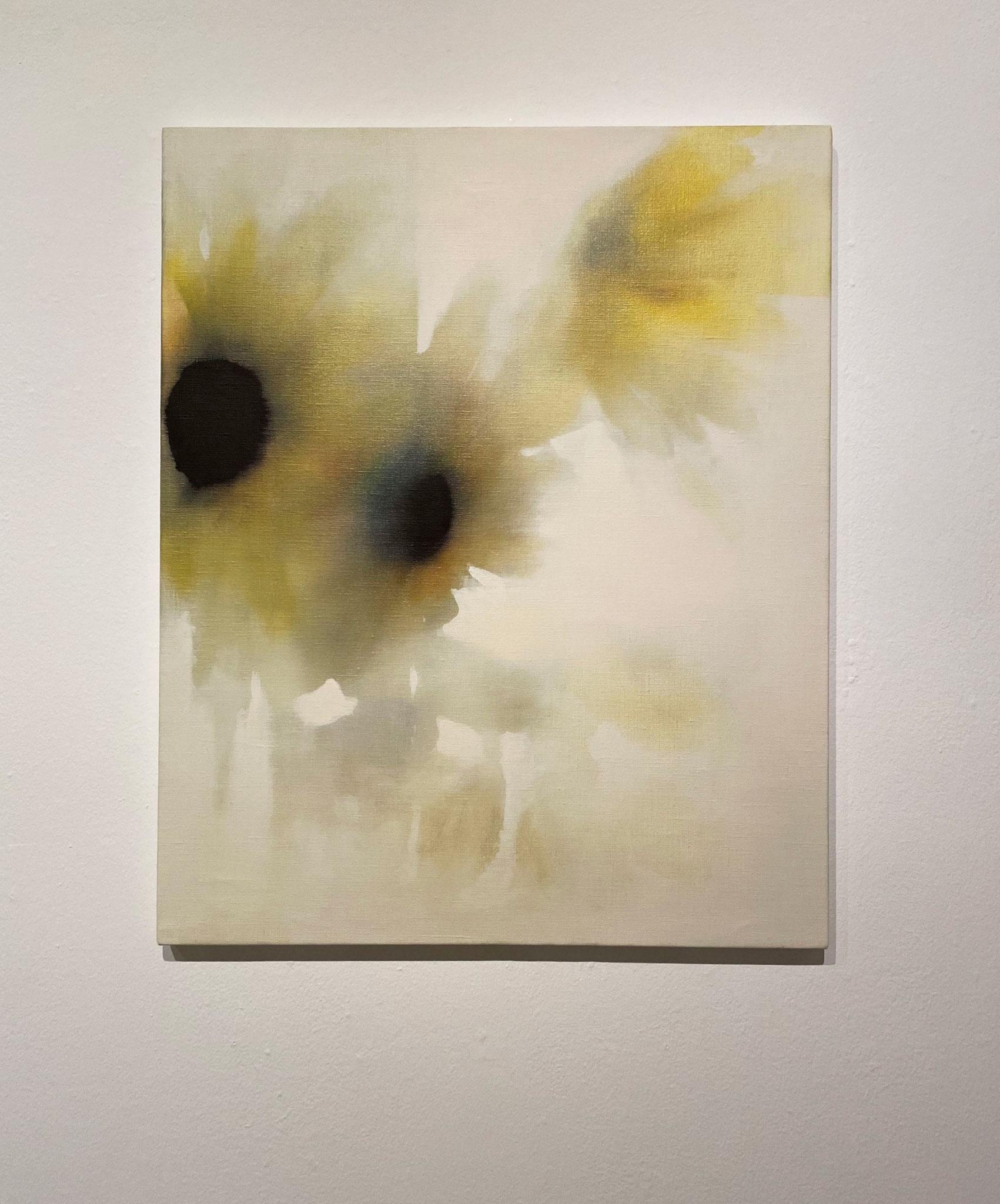 ひまわり,606×500,キャンバス、油彩,2020