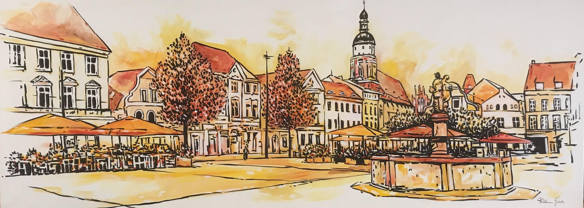 """""""Altmarkt"""".  2018. 150 x 80 cm"""