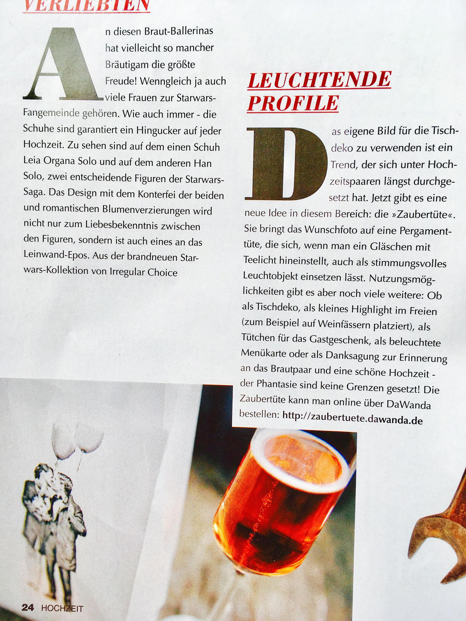 Hochzeit, Das Magazin für Brautpaare, Ausgabe 6/2015