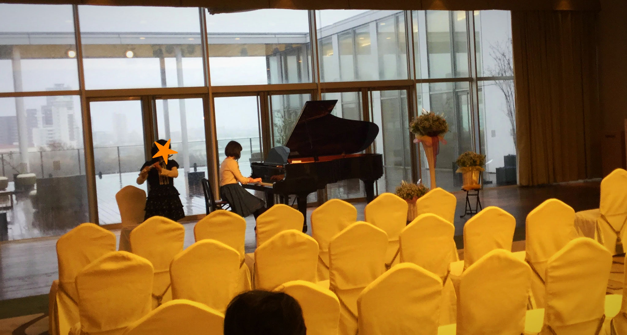 フルートとピアノの親子のセッションもありました♪