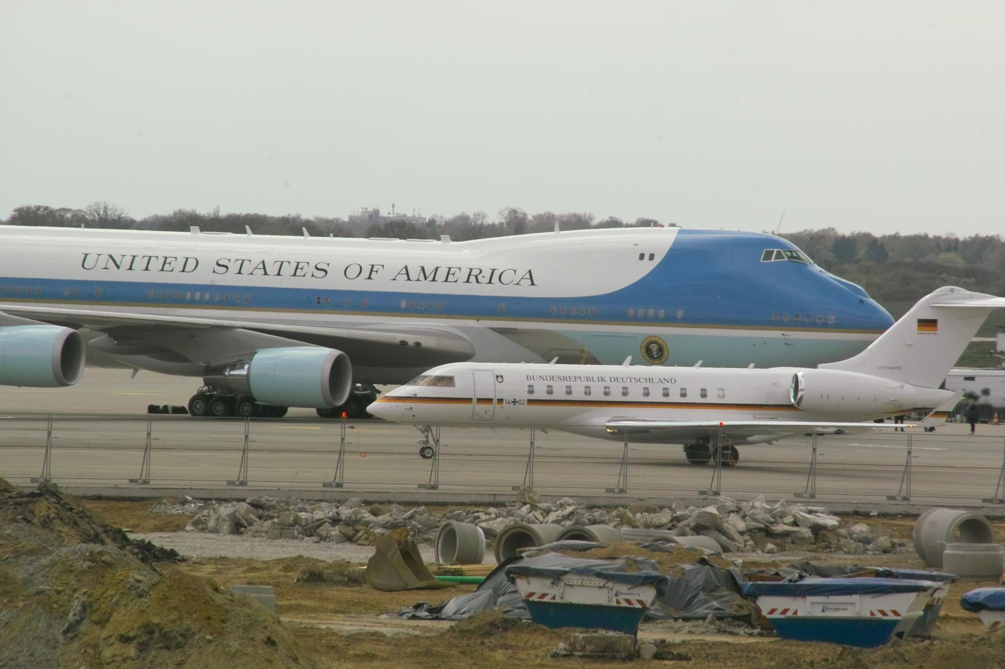 Air Force One und Germany Air Force in Hannover © Andreas U.