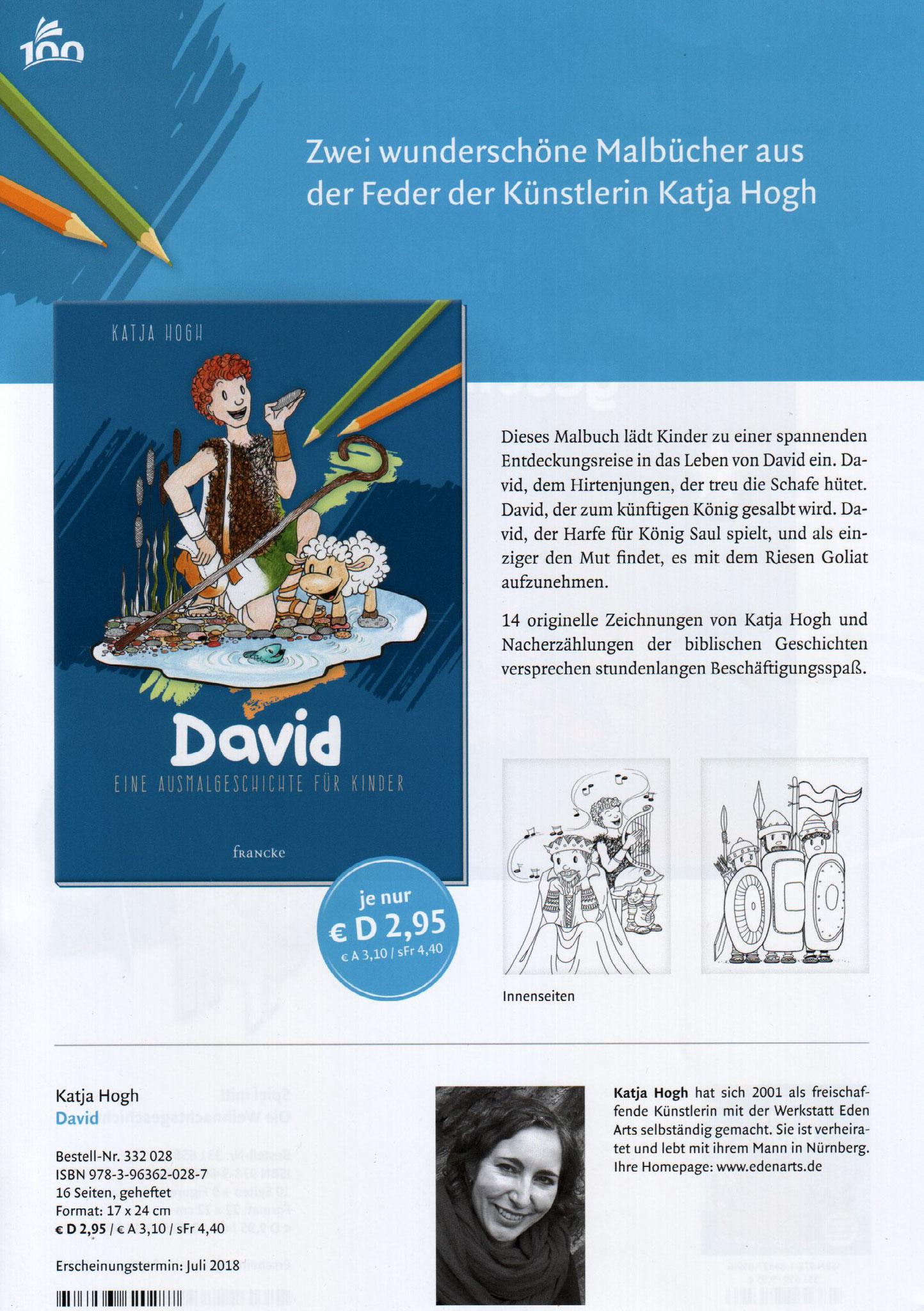 David - Malbuch für Kinder