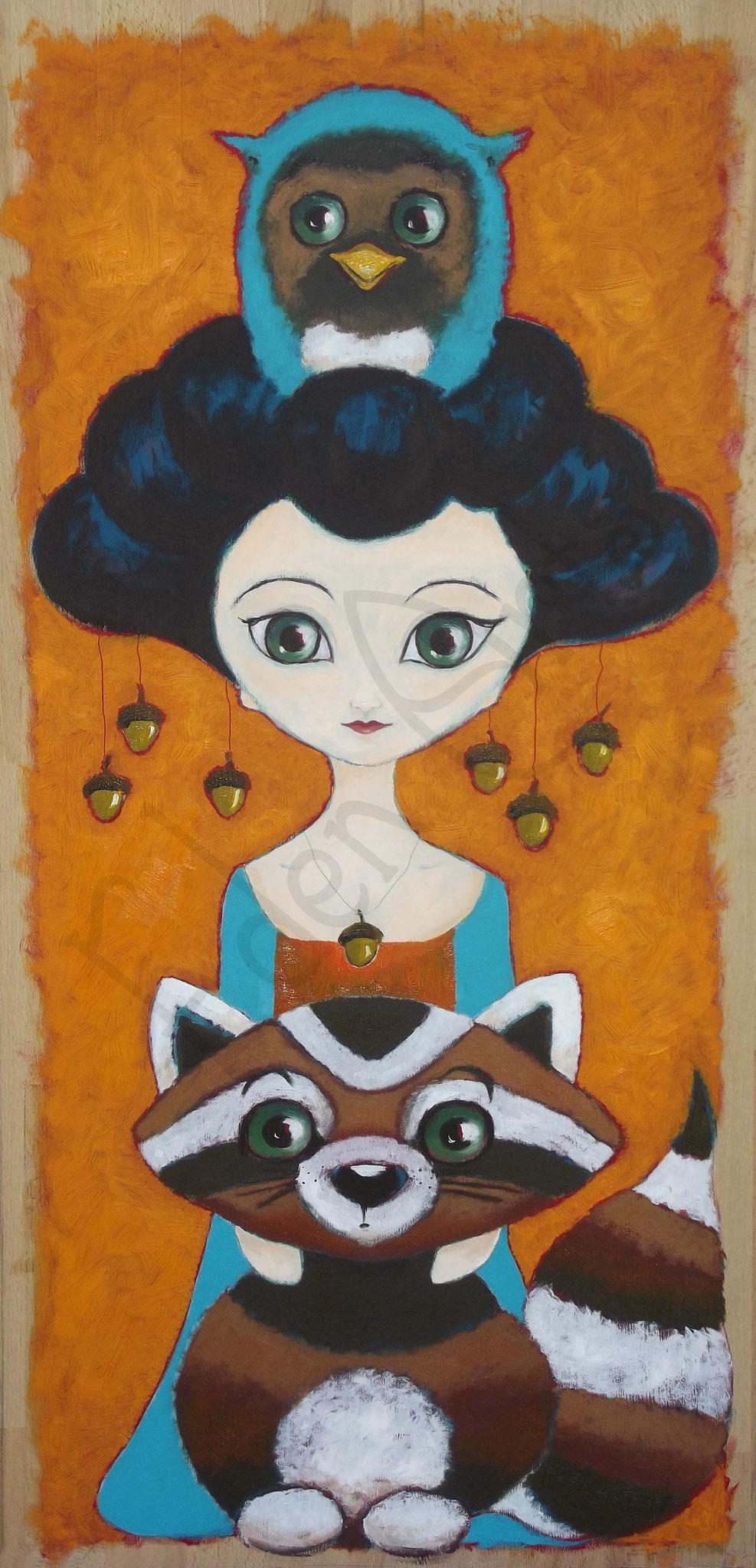 Geisha mit Waschbär - Juli 2017