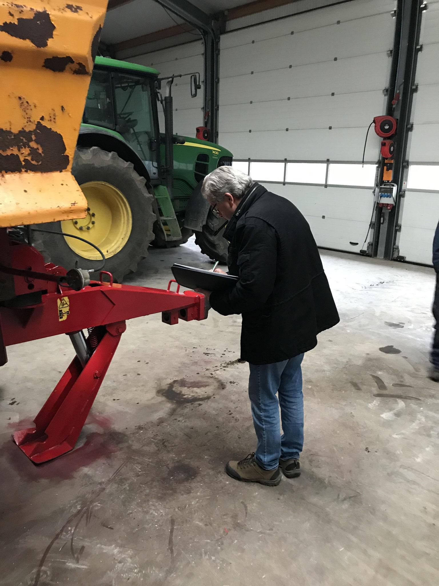 Taxeren van landbouwmachines