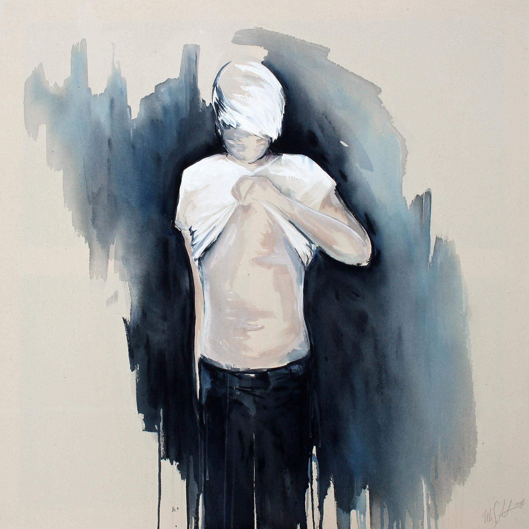 """unveil""  acryl auf leinwand 90x90 2018"