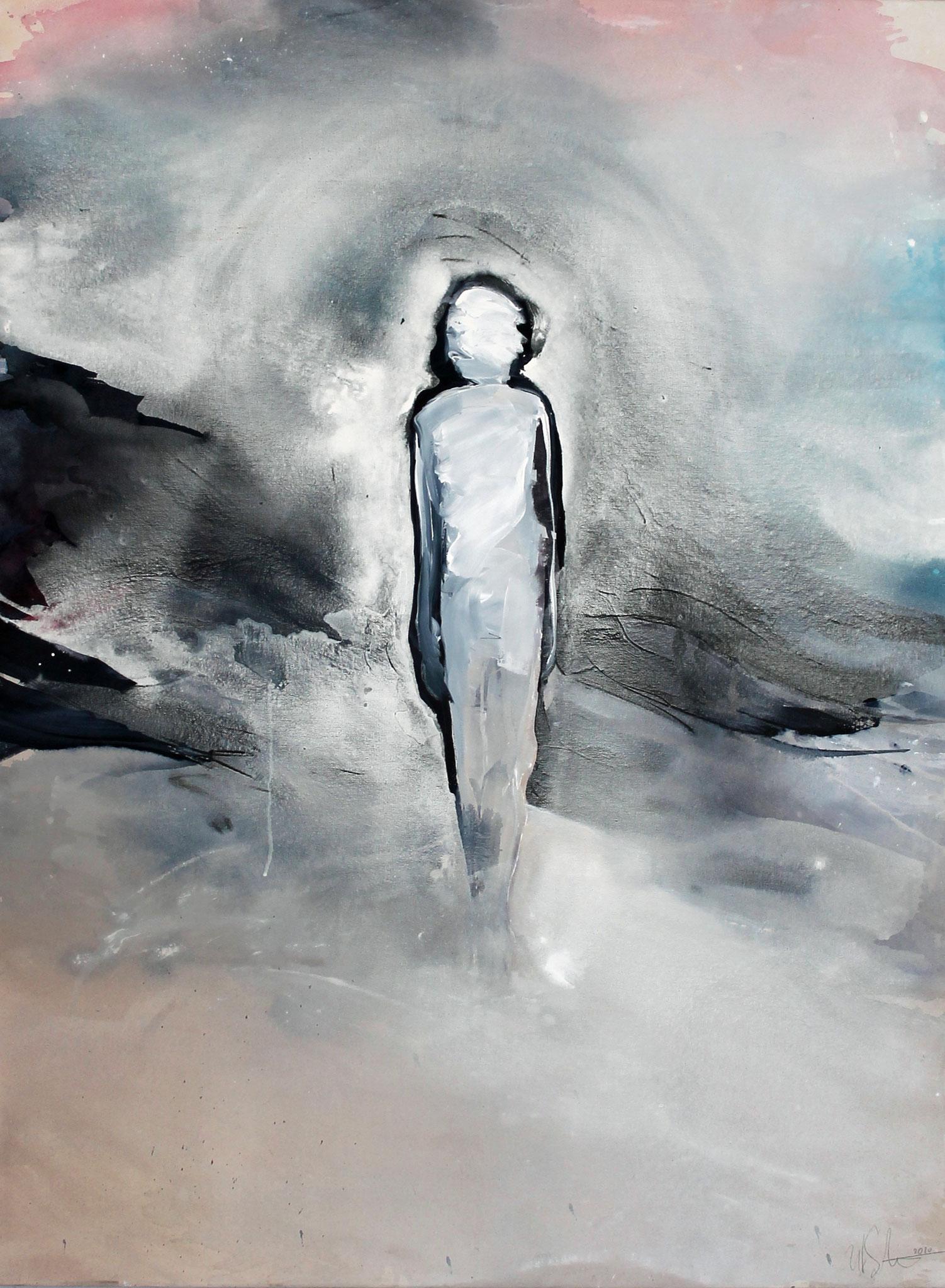 """""""in between"""" Acryl und Graphit auf Leinwand 120x90cm 2020 (derzeit in der Galerie Augarde, Daun)"""