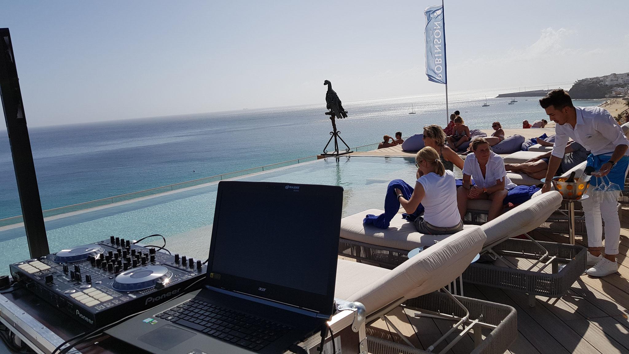 DJing @ Robinson Club, Spain
