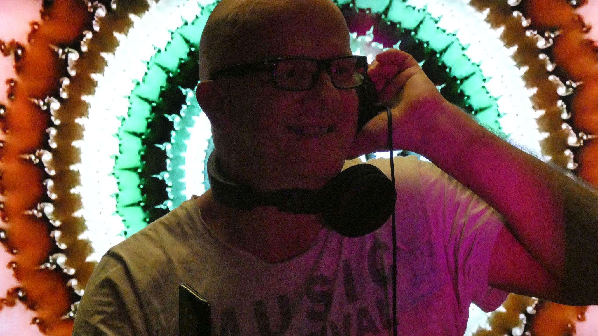 DJing Chris Bernard