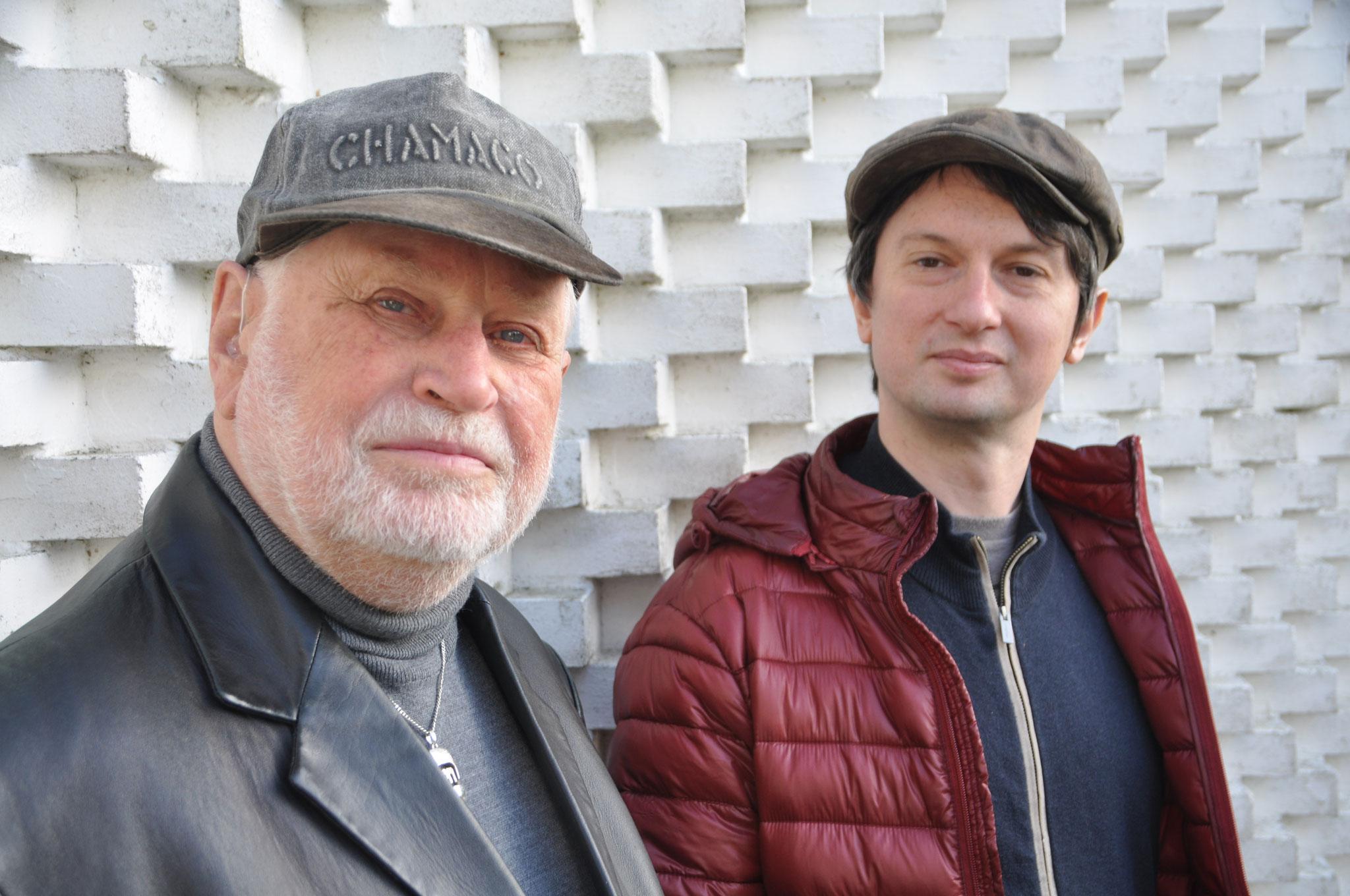 Schlüter und Netsvetaev nach einer gemeinsamen Session (Fotocredit: Manfred K.)
