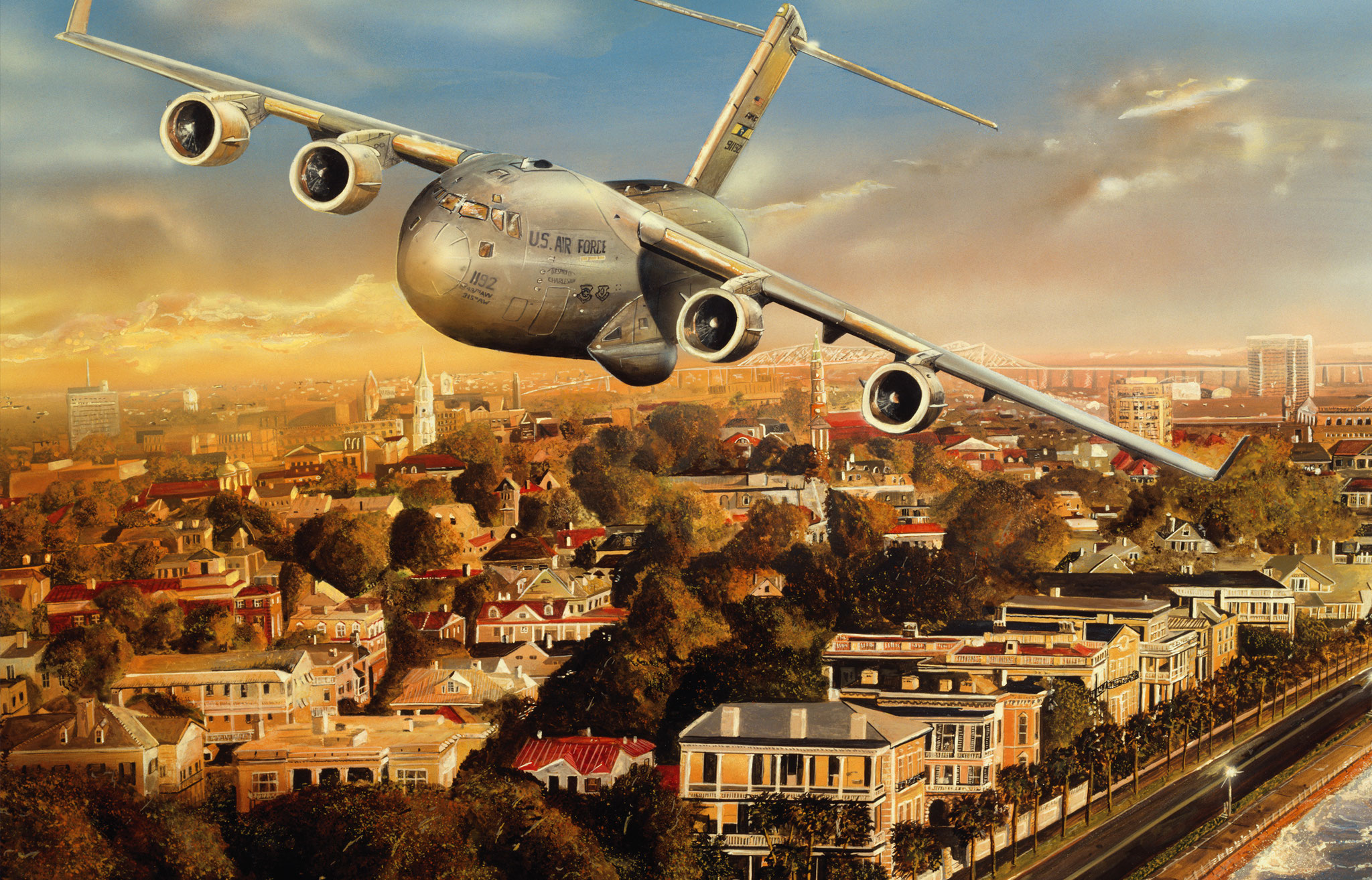 Sullivan_Boeing_Charleston_C17_AviationArt