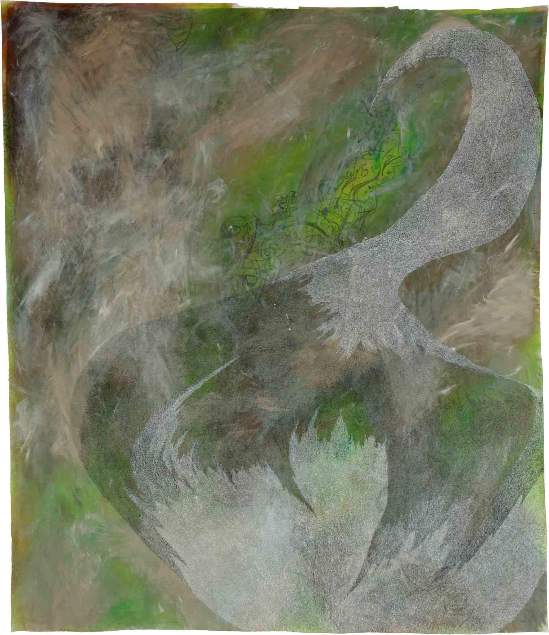 ohne Titel 4, 2012, Mischtechnik auf Leinwand, 192 x 165 cm