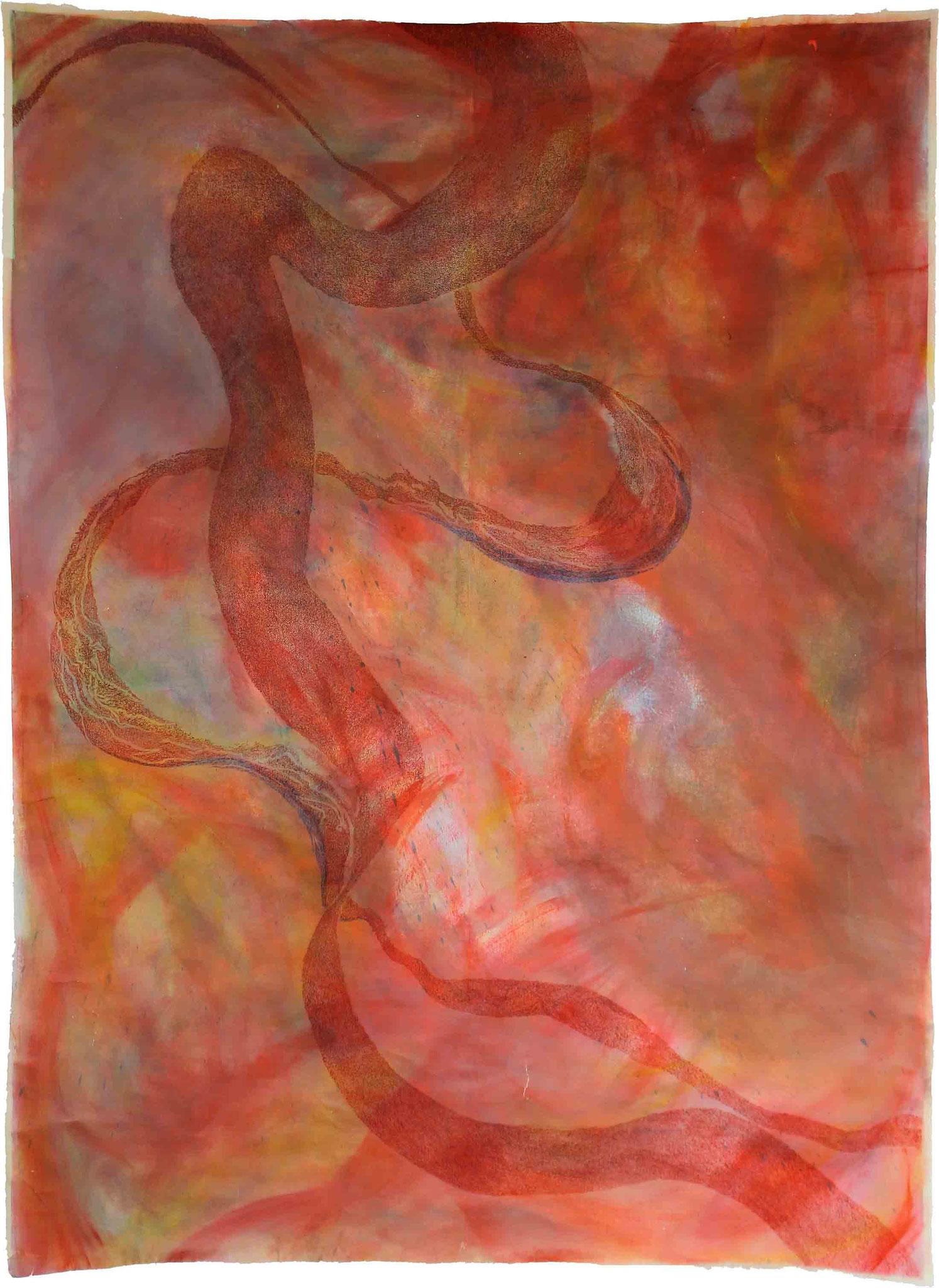 ohne Titel 3, 2012, Mischtechnik auf Leinwand,225 x 165 cm